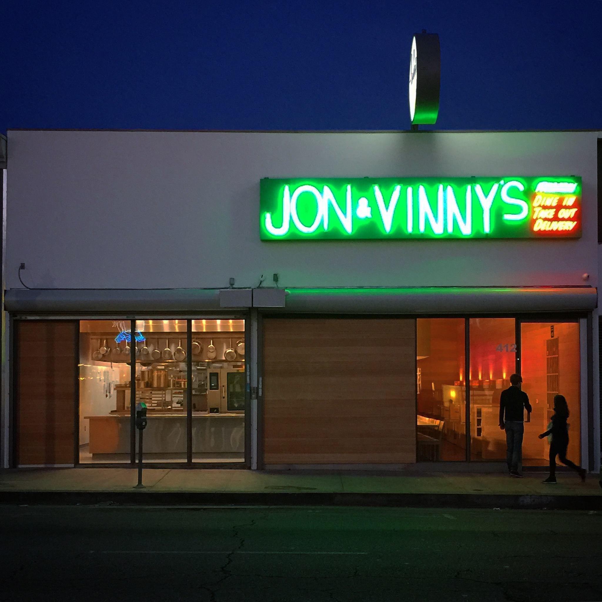 Photo via  Jon & Vinny's