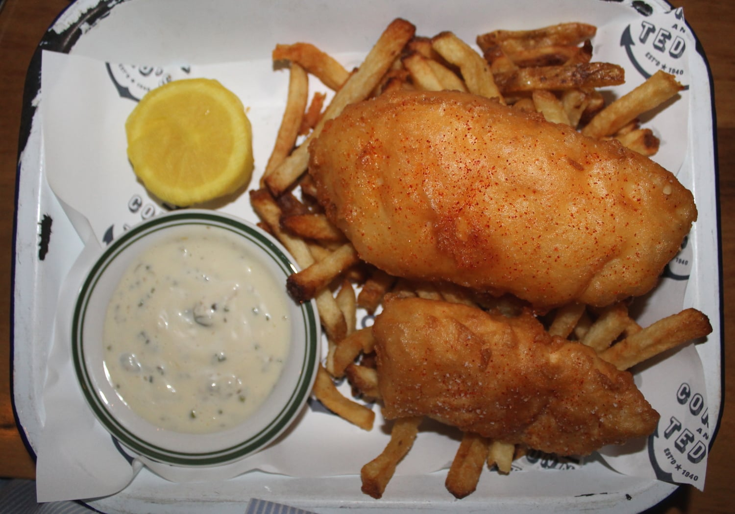 Fish & Chips at Connie and Teds