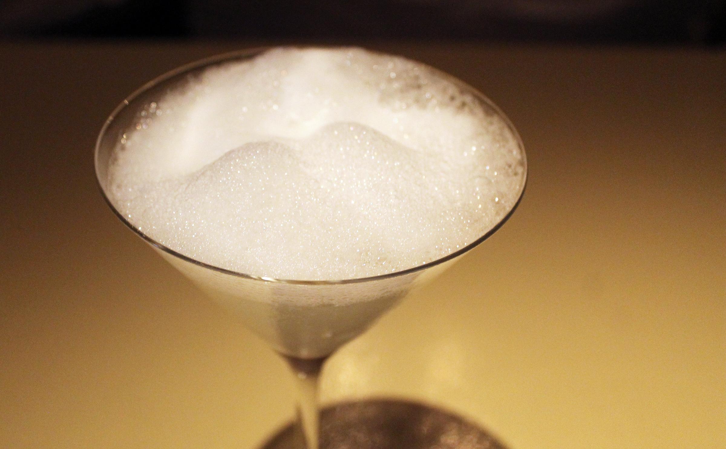 """""""Salt Air"""" Margarita:classic margarita topped with salt air"""
