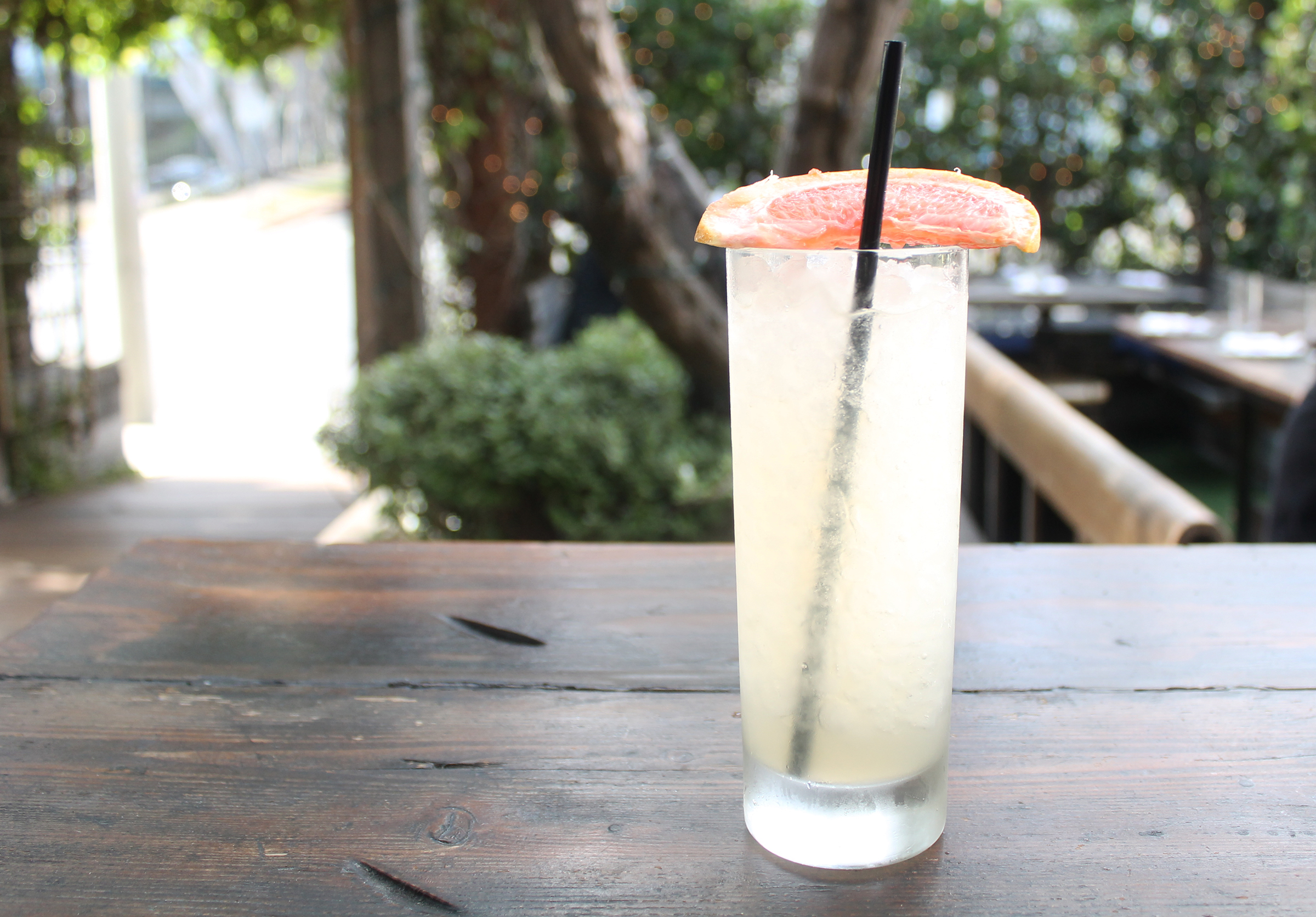 In Between Days: vodka, house-made grapefruit tarragon cordial, dry vermouth, fresh lemon, soda