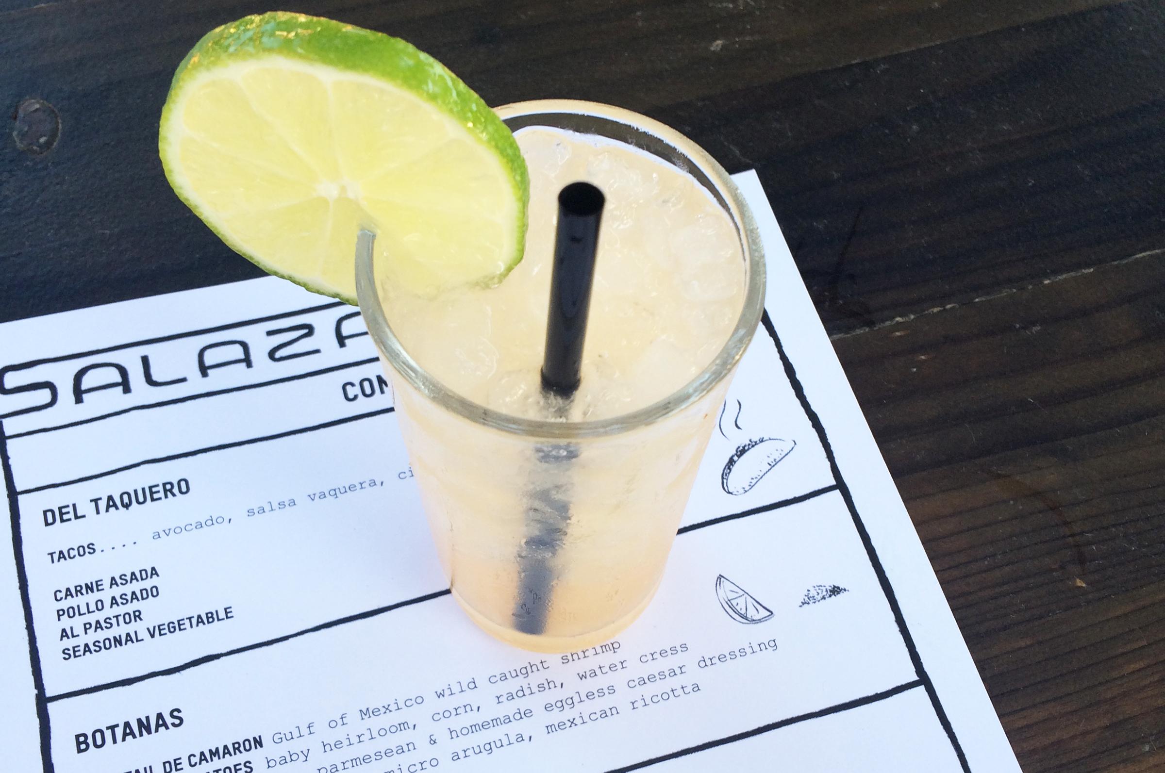 La Paloma: Mezcal, Ancho Chili Liquor, Grapefruit, Honey, and Salt