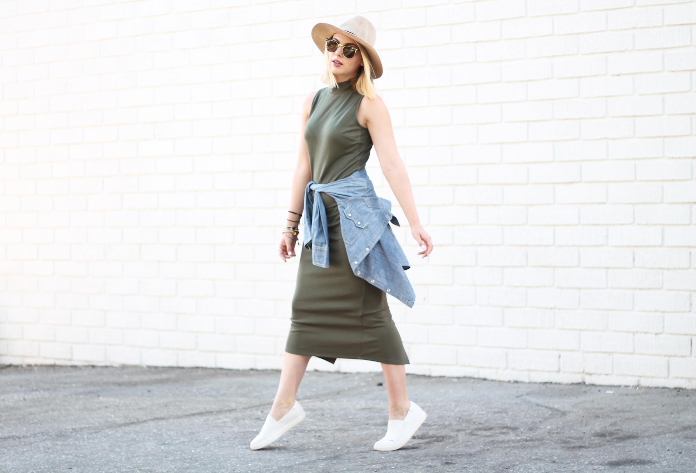 Midi Dress + Sneakers (Even