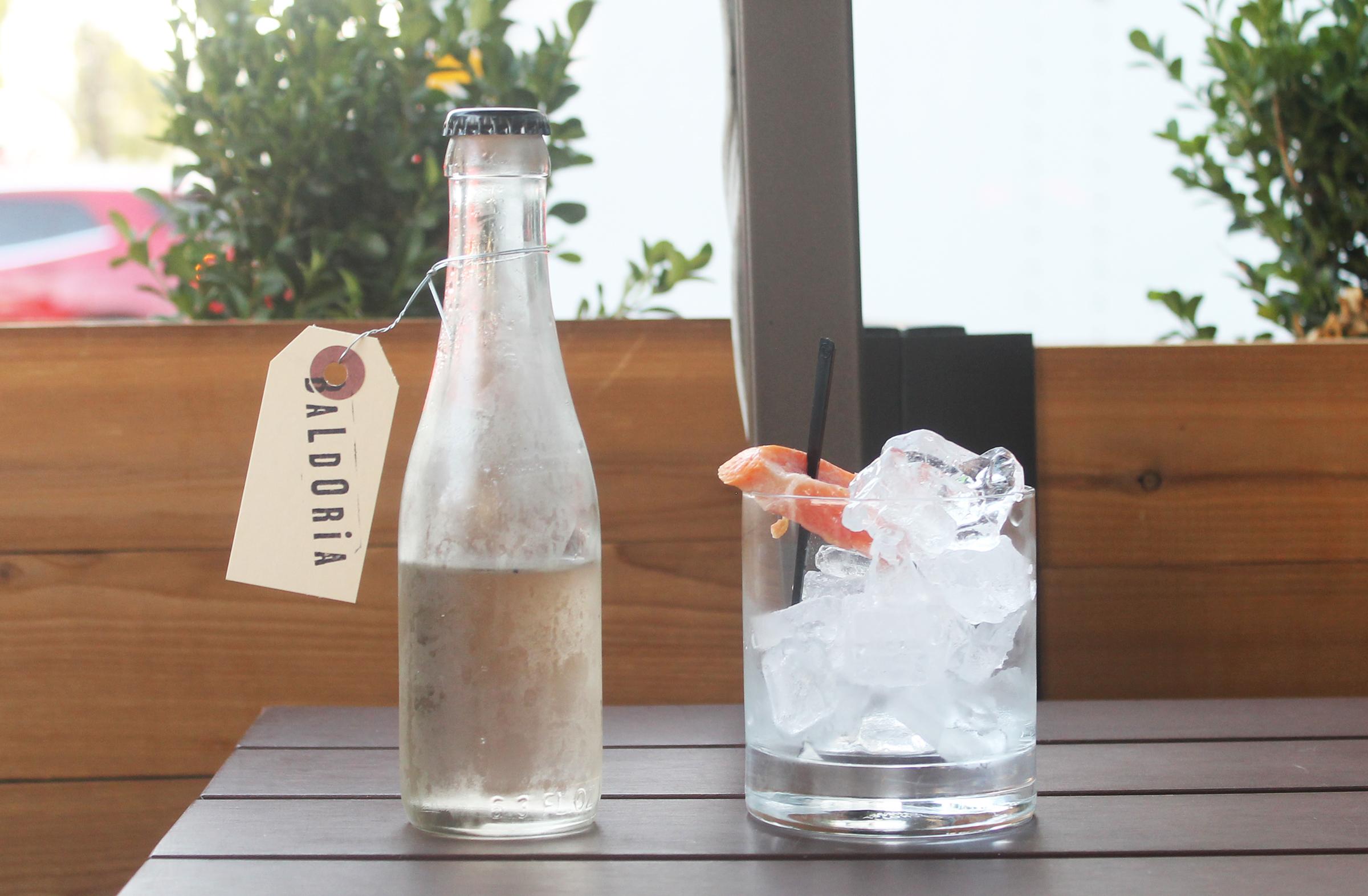 Summer Lady:Rose water, vodka, Dolin Blanc, Dolin dry, Saler's, grapefruit