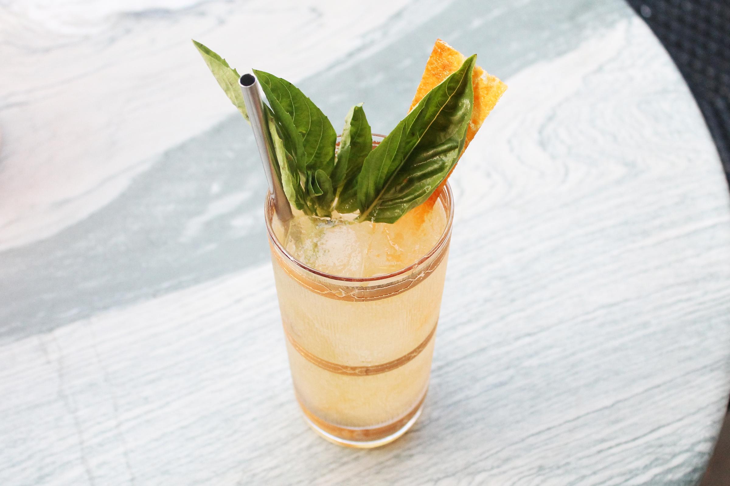 Spritz in Nature:Apricot, Basil, Gin, Rancio Sec & Soda
