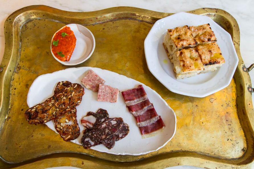 Charcuterie: Salami, Smoked Duck Breast, Pork Rilettes