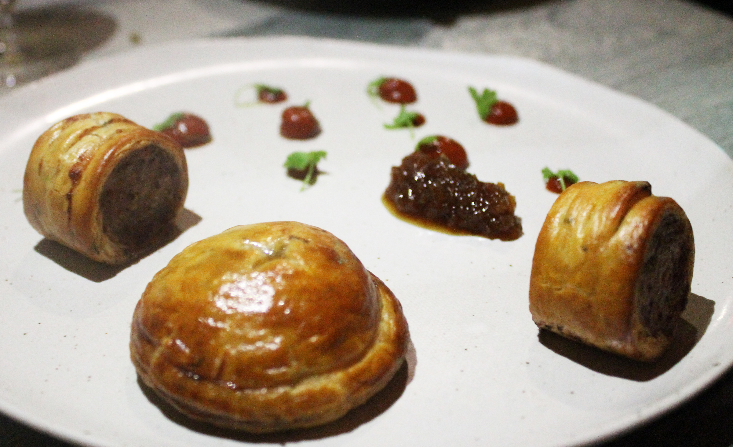 Pork Pies with Ketchup and Tomato Jam
