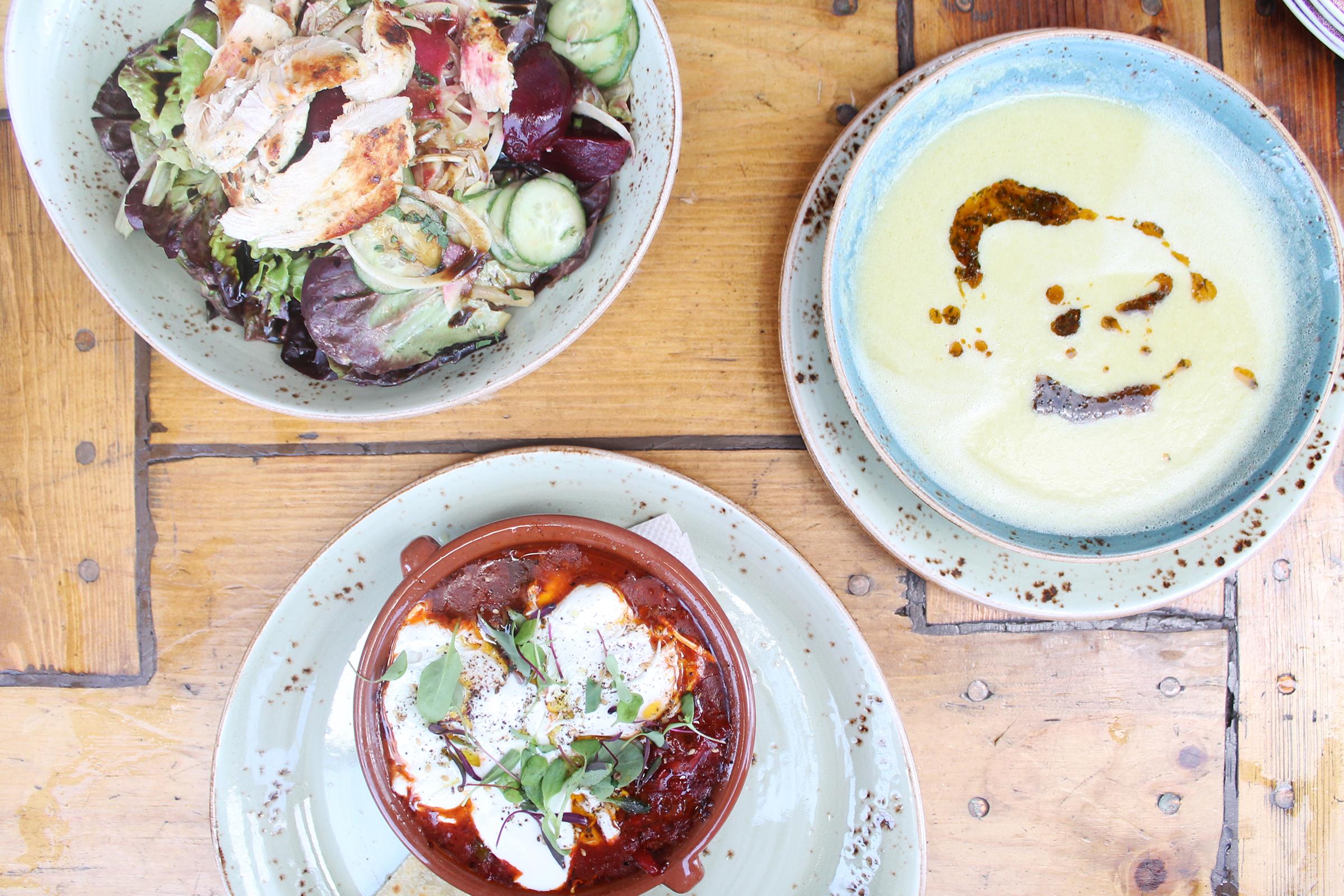 Rosemary Chicken Salad, Shakshuka, and Buttermilk Fried Chicken