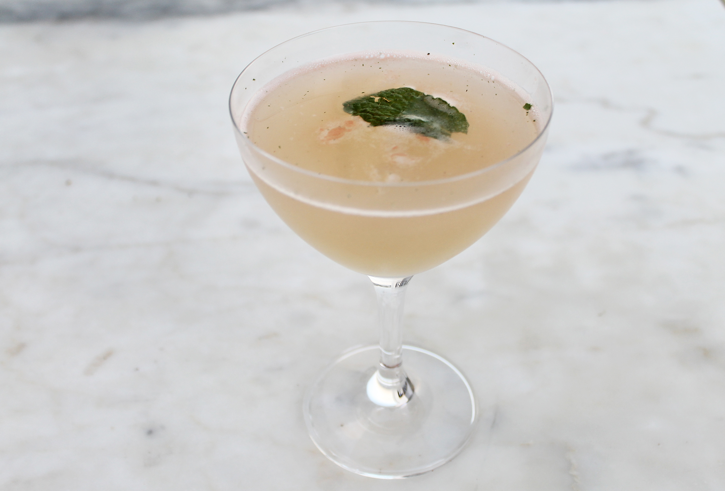 Old Frenchman:Grey Goose, Mint, Domaine Chandon, Orgeat, Lime Juice