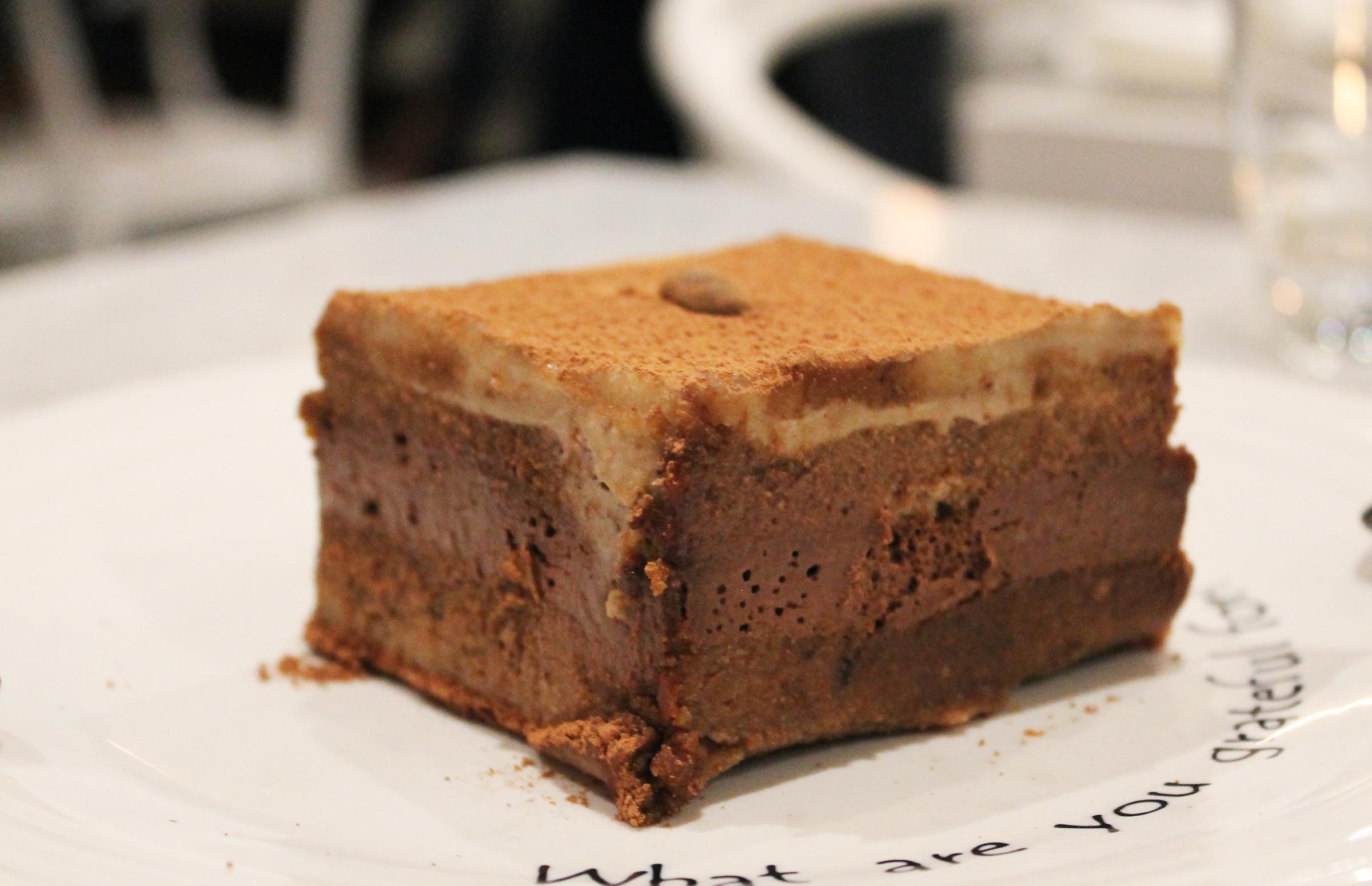ADORING / SIGNATURE TIRAMISU /raw almond biscuit, coconut cashew cream, espresso, raw cacao
