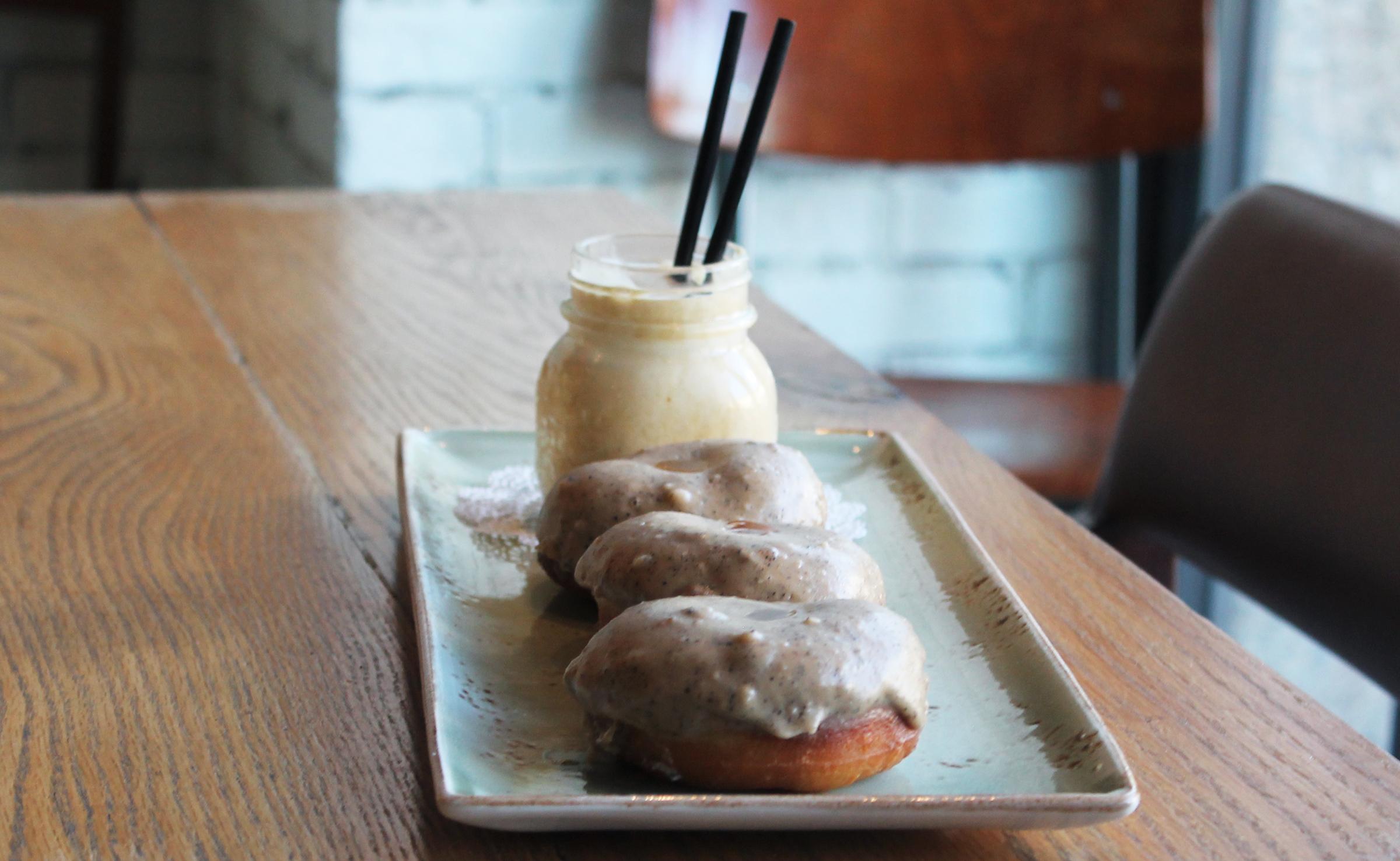 BRIOCHE DONUTS: Brown Butter Glaze with Cinnamon Caramel