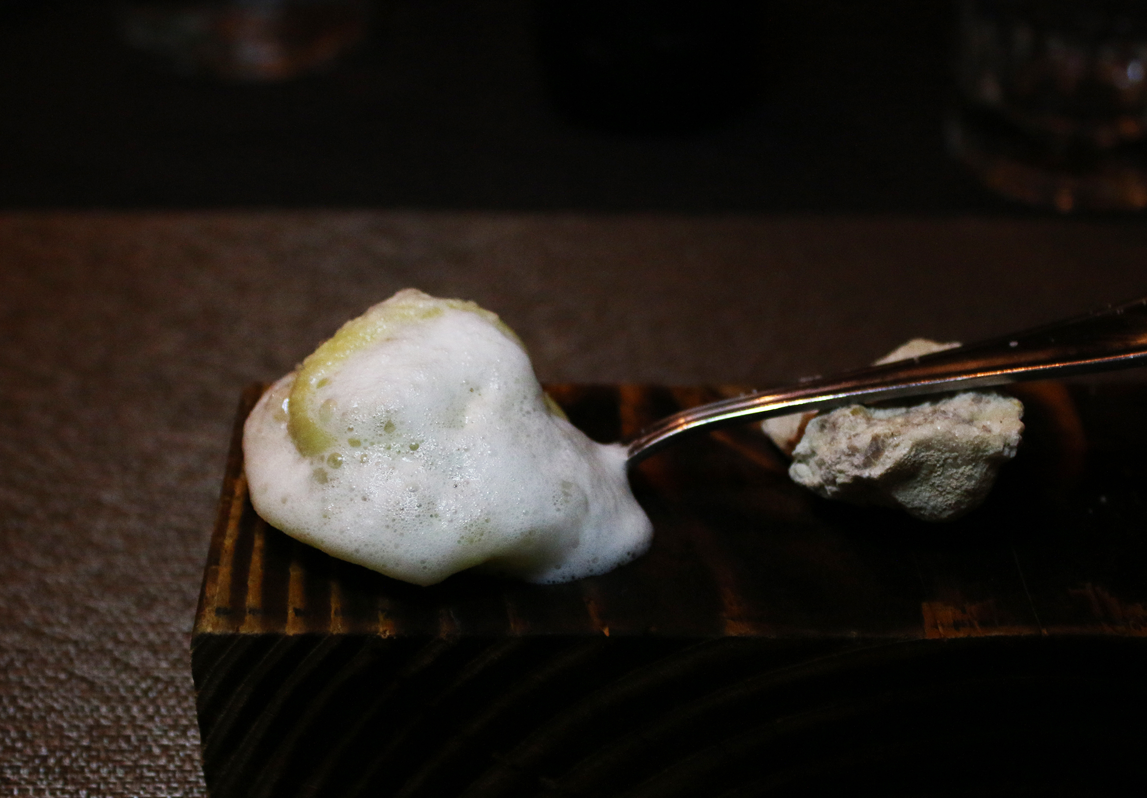 Foie Gras Truffle Ravioli: Parigiano Reggiano Espuma