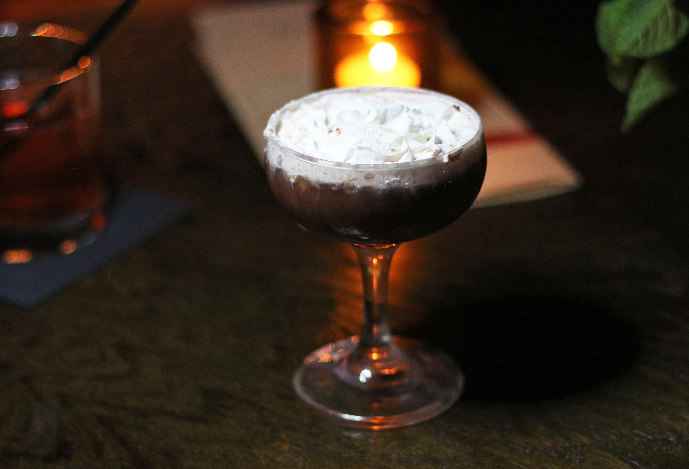 The Peppermint: Absolut Vodka, Meletti Cioccolato, Giffard Menthe Pastille