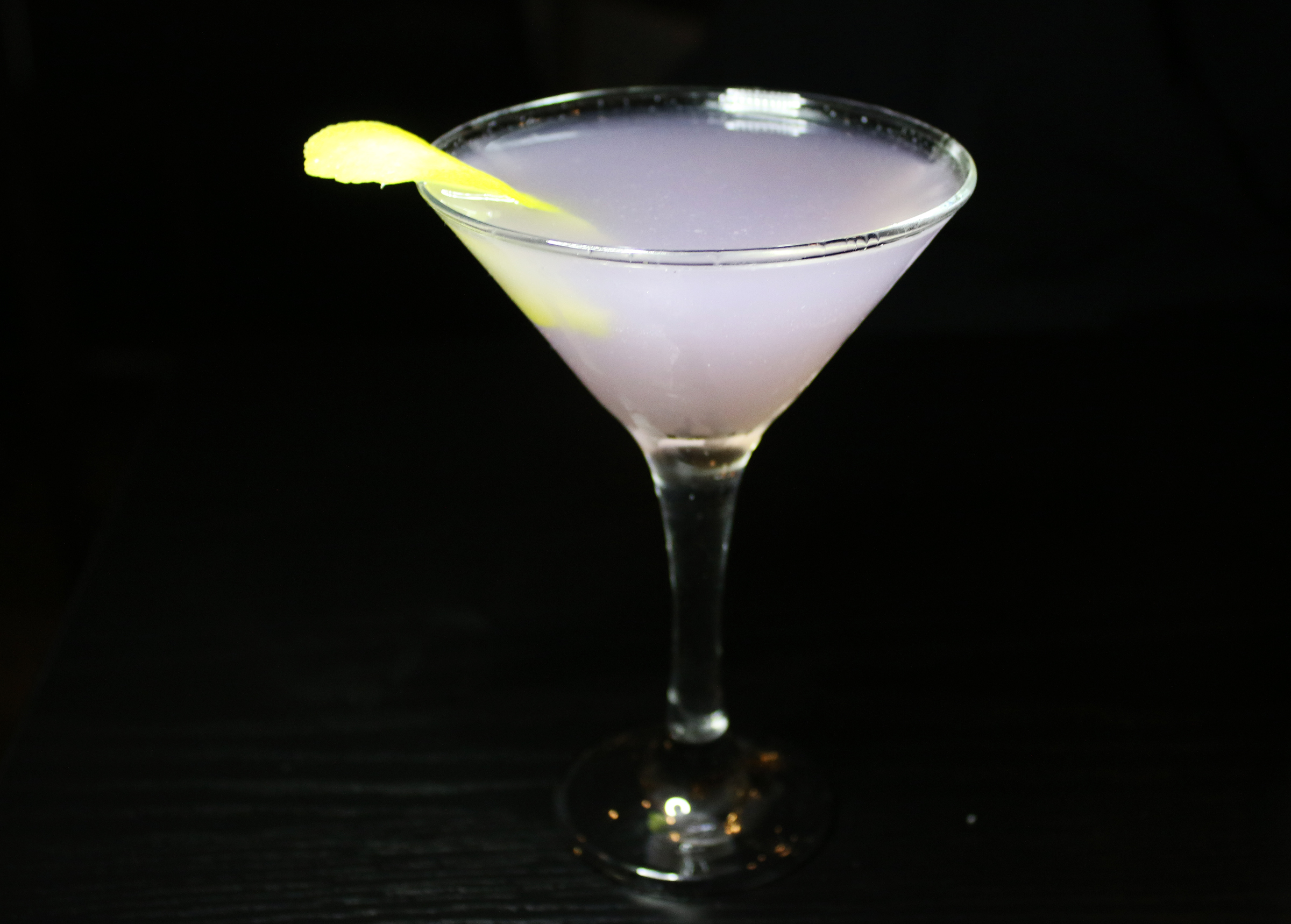 Aviation: Gin, Luxardo, Lemon, Violette