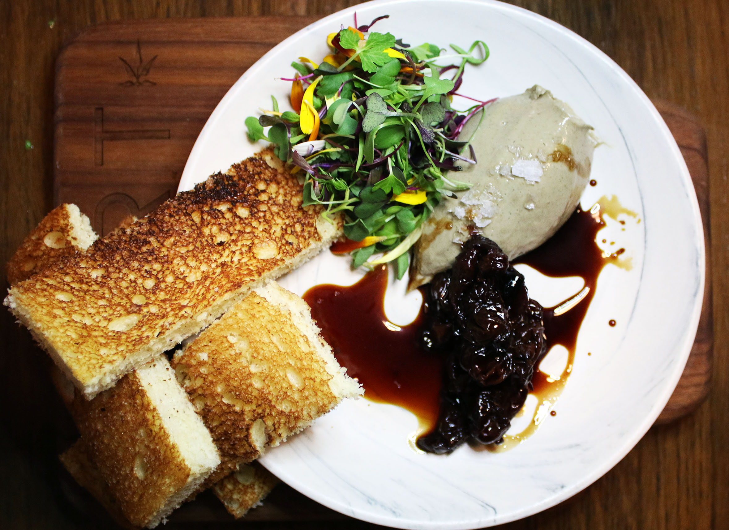 Duck Liver Terrine with Cherry Compote