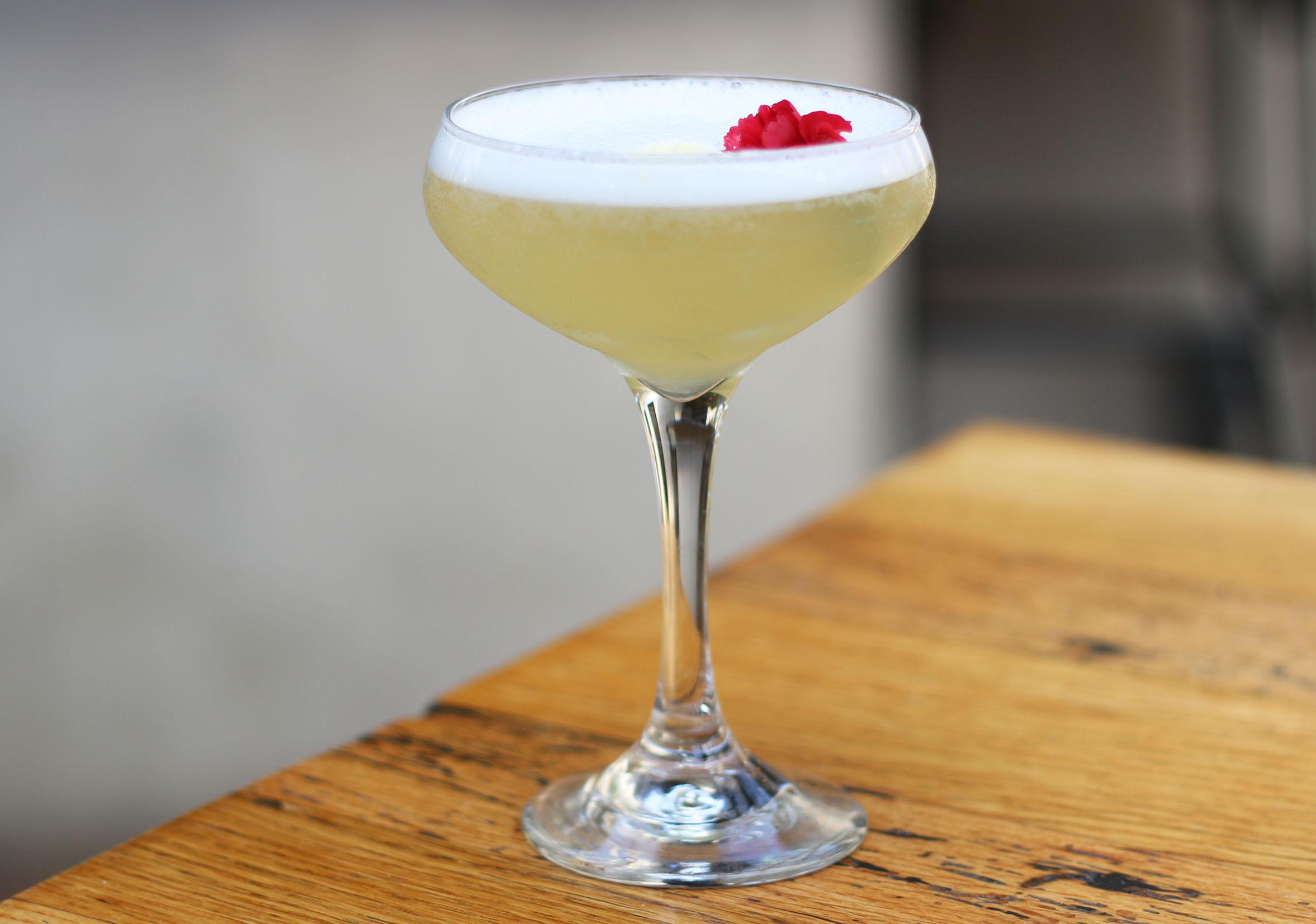 The Pineapple Express: Vodka, Elderflower, Lemon, Pineapple