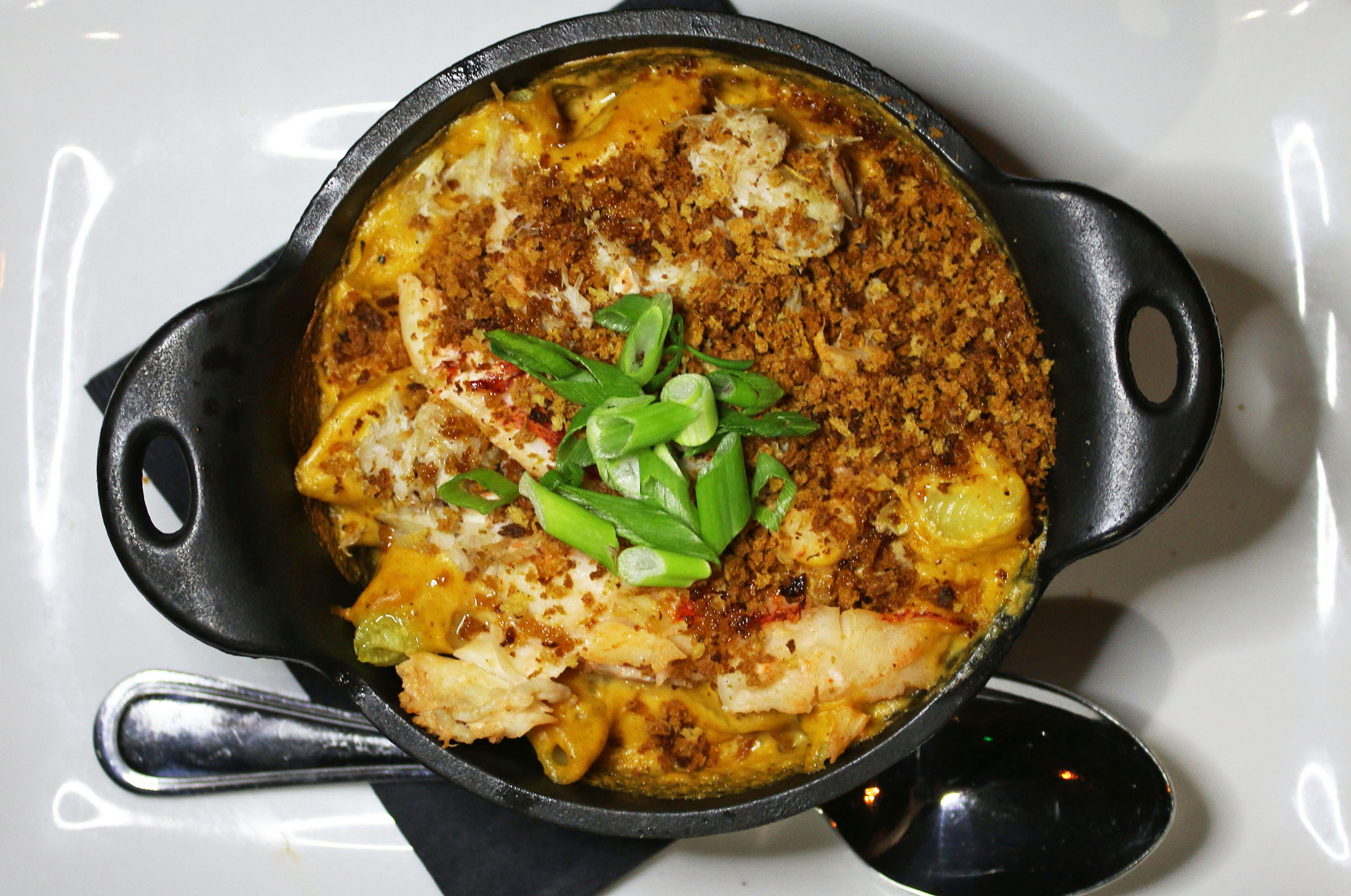 Lobster & Crab Mac & Cheese: Five Cheese Fondue, Crispy Panko, White Truffle Oil