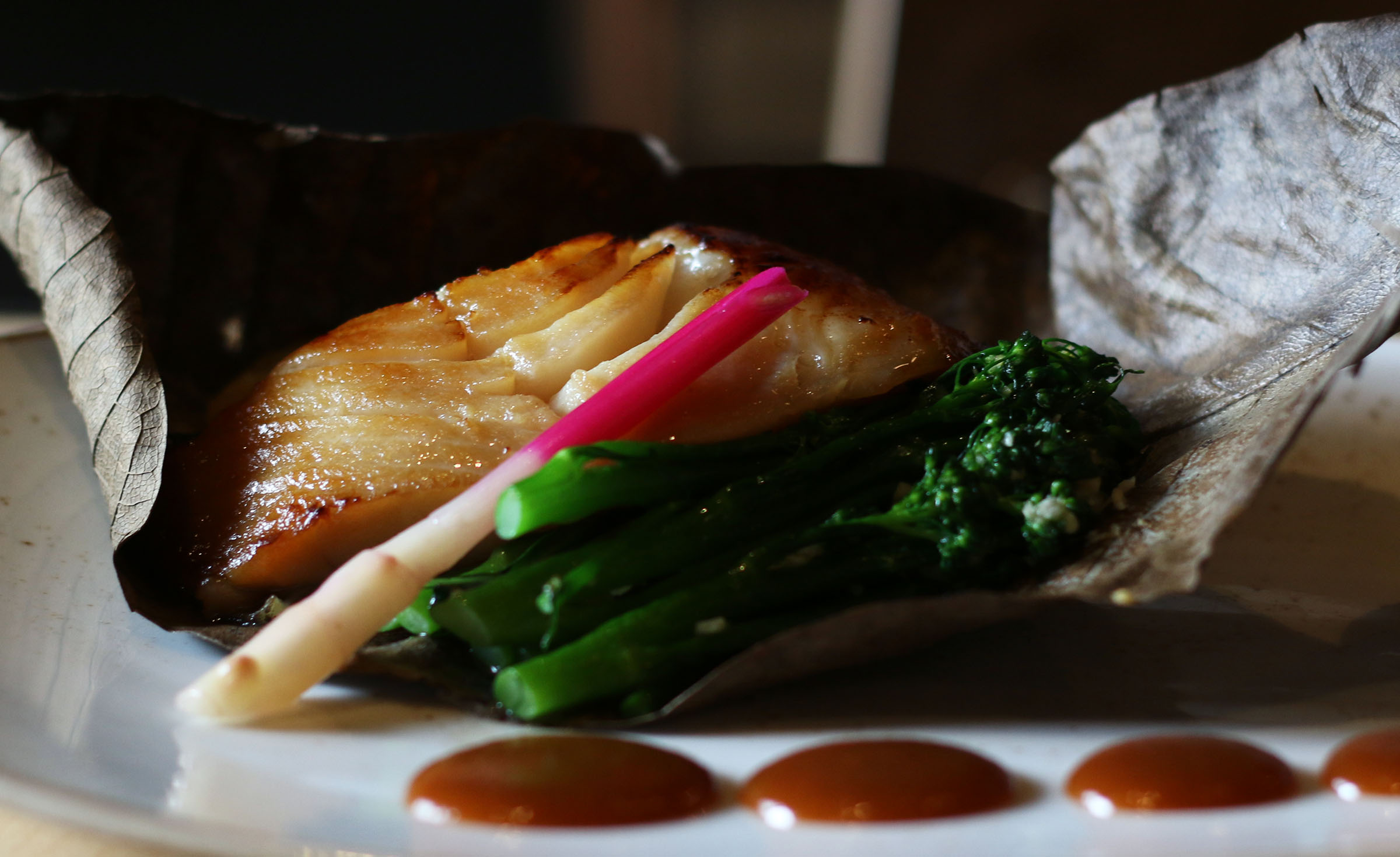 MISO-MARINATED BLACK COD: T his Katsuya signature uses sweet miso and the special taste of baked black cod to deliver unparalleled flavor.