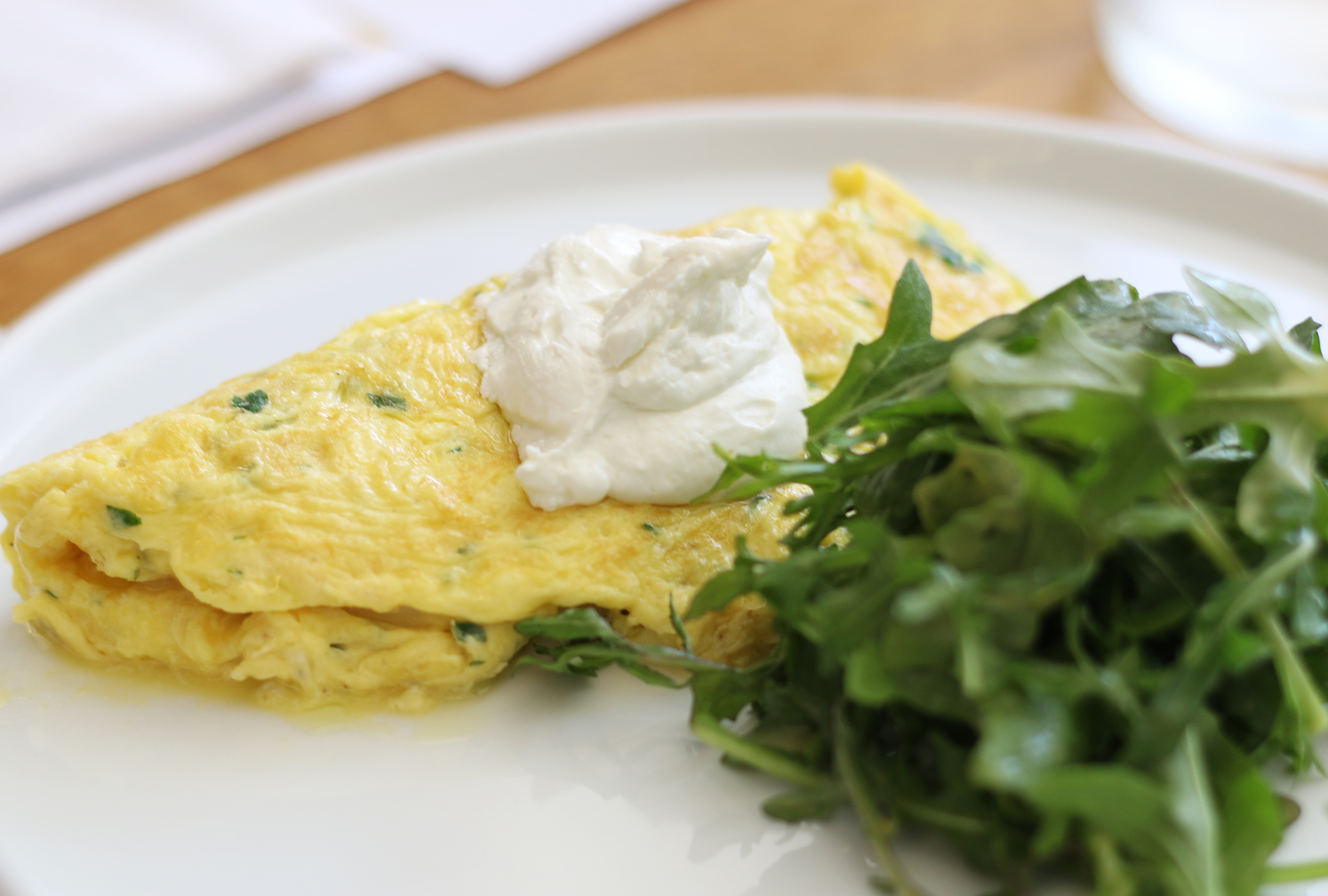 French Omelette : Chevre Chantilly, Frisee