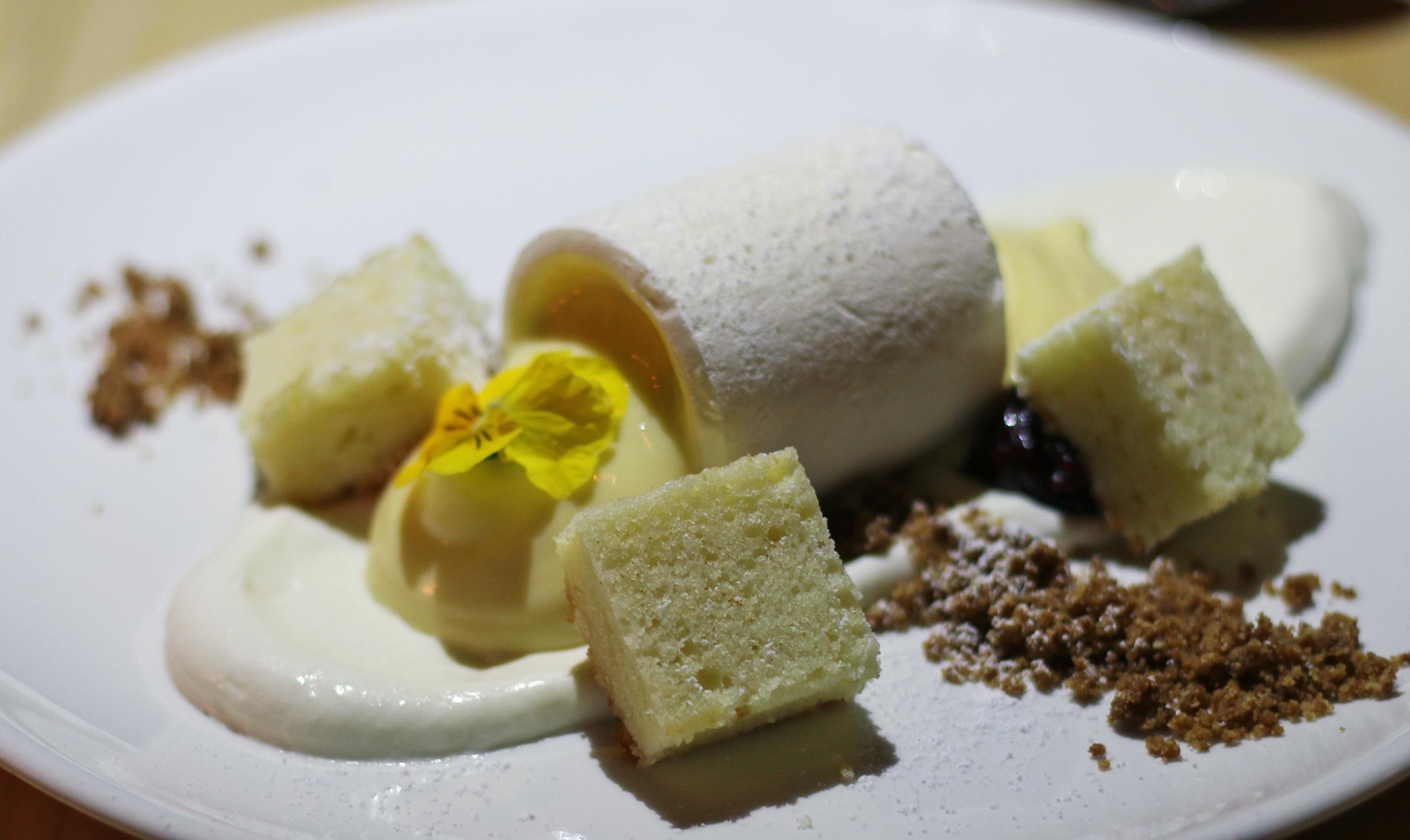 Meyer Lemon Eton Mess: Lemon Curd, Meringue, Pound Cake, Whipped Creme Fraiche
