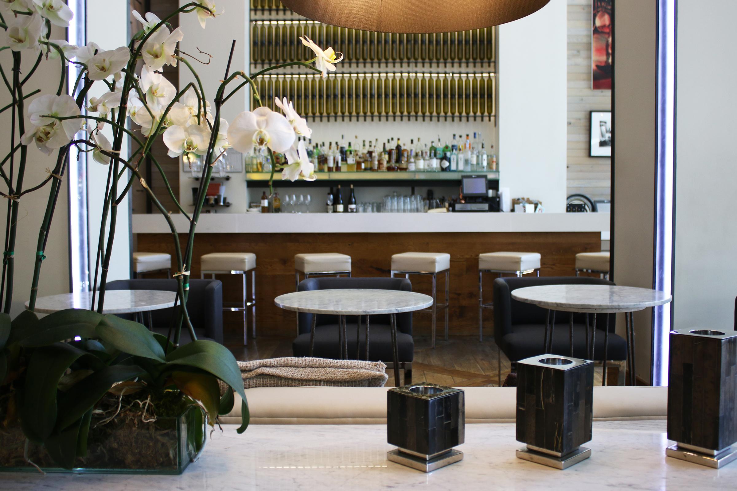 The lobby bar at Hotel Zetta