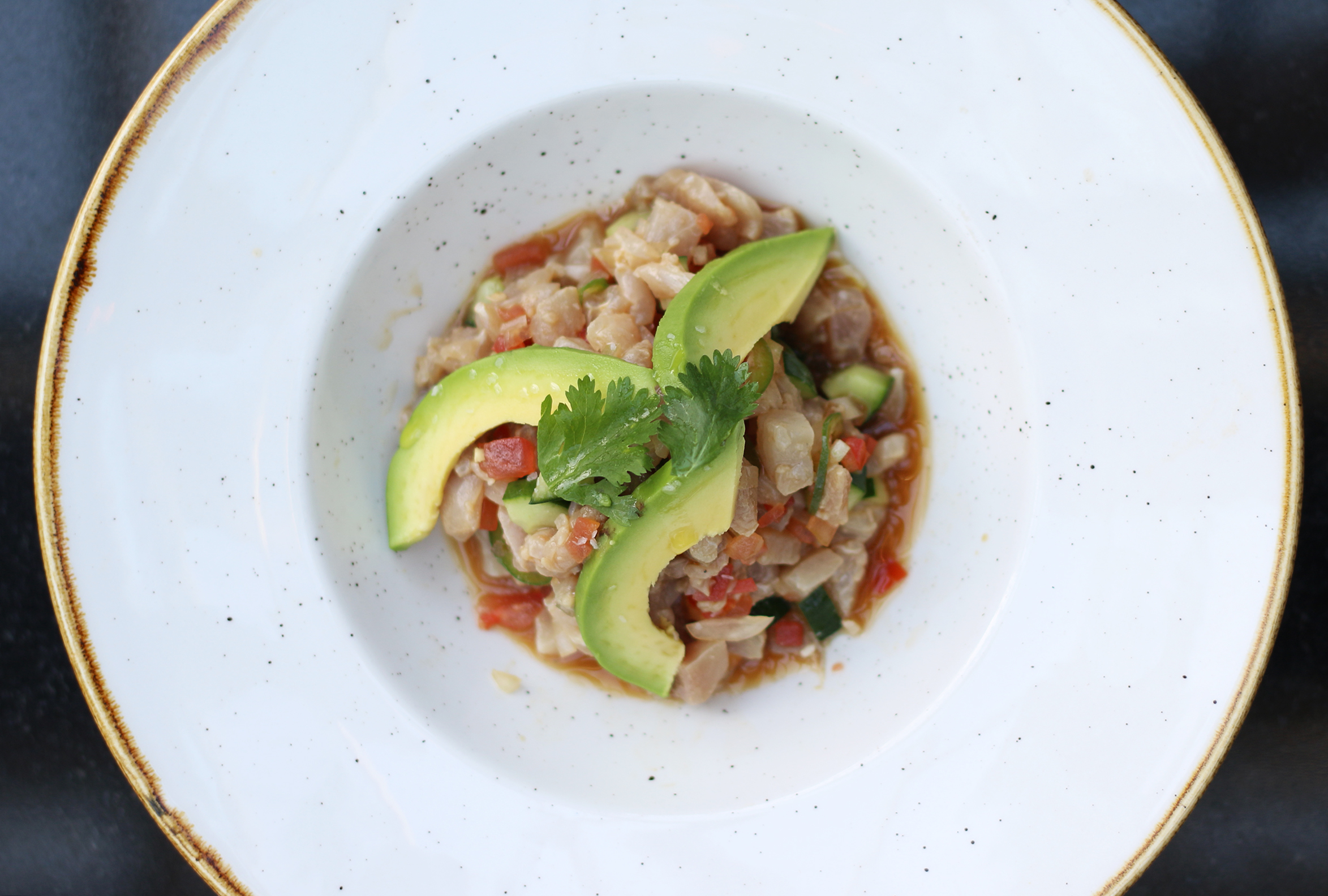 Ceviche of the Day :Tostada, avocado, mayo