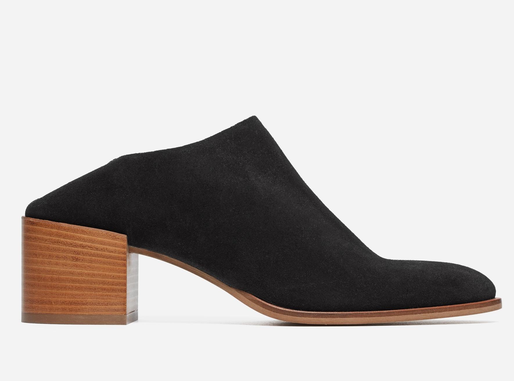 The Suede Heel Mule