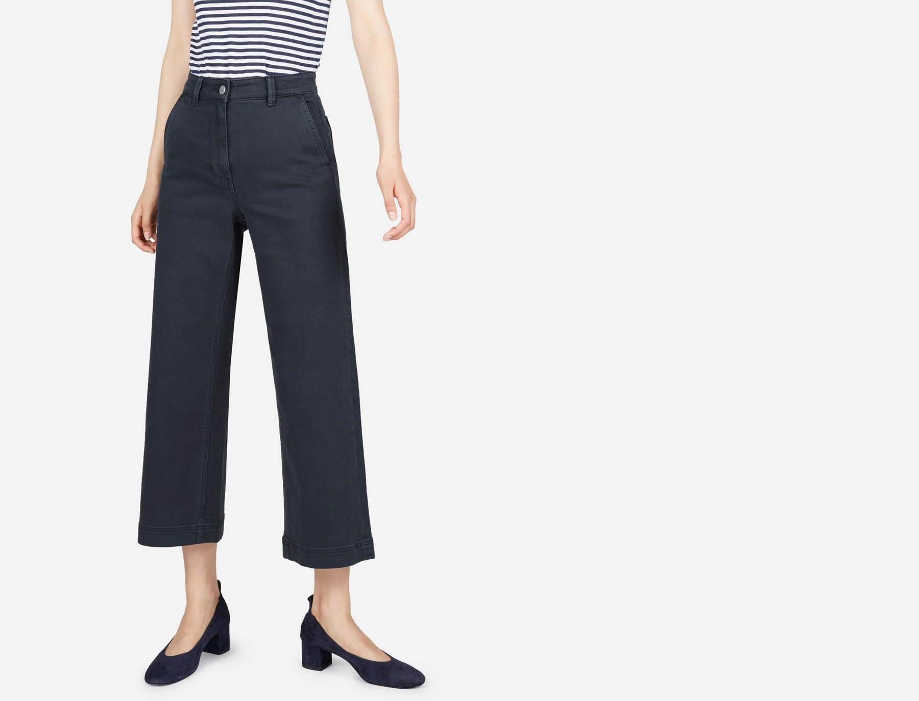 The Wide Leg Crop Pant , $68