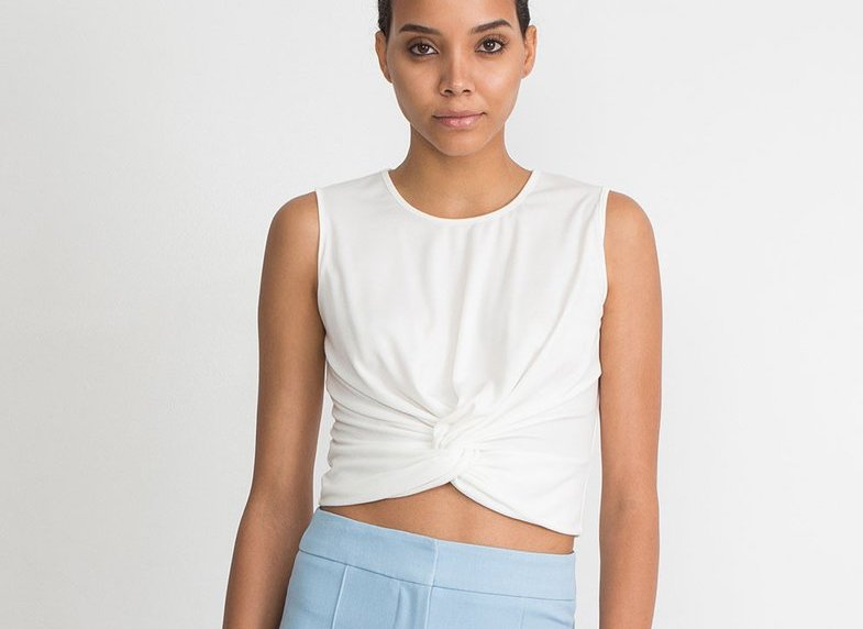 Knotted Crop Top, $45