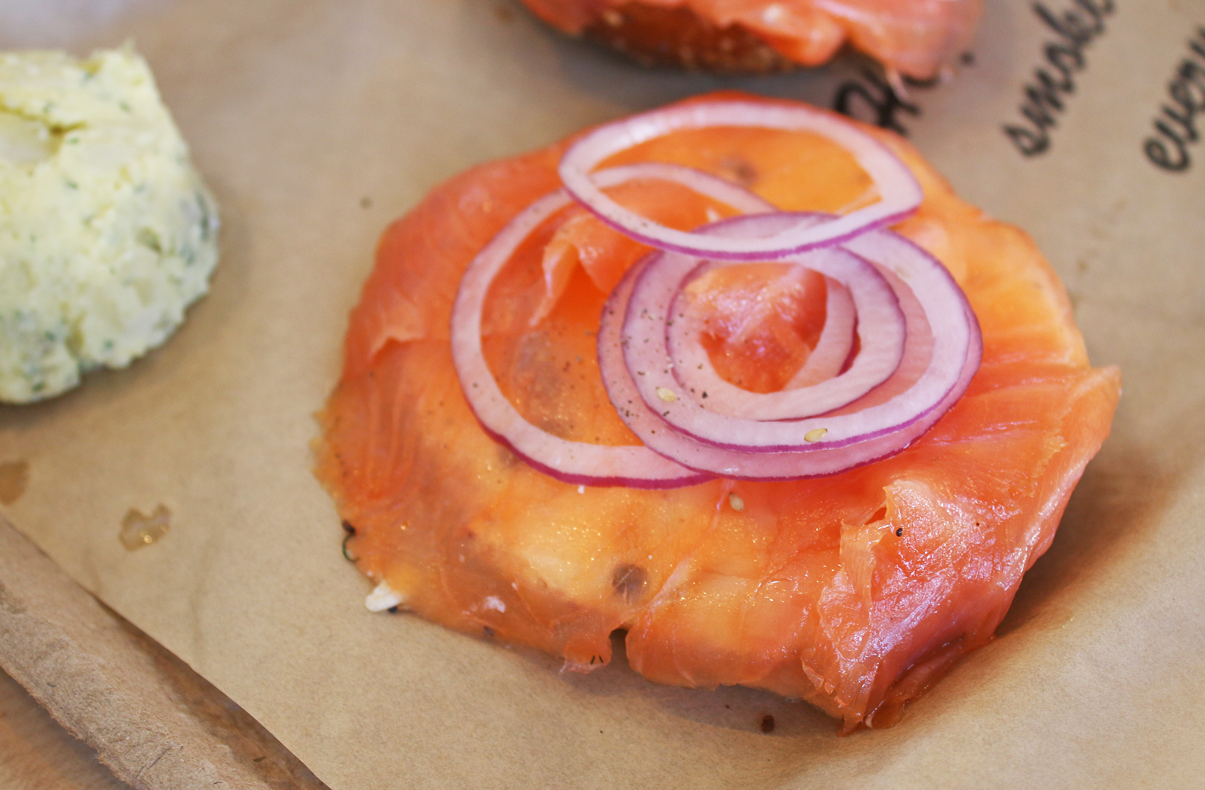 A Classic Bagel and Lox