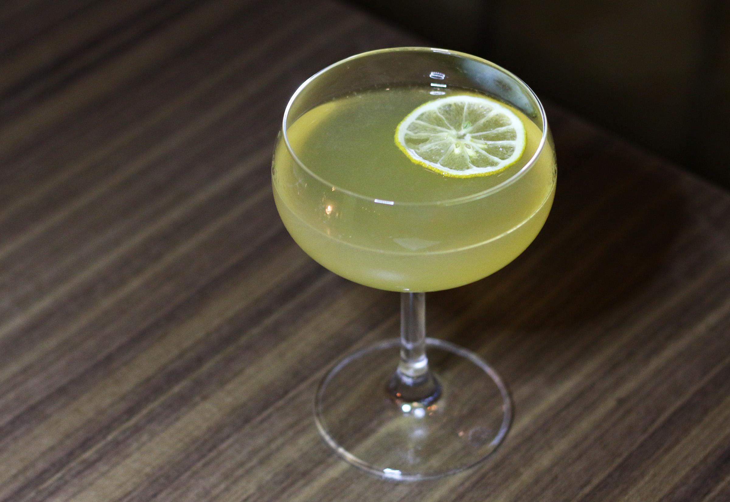 THE ITALIAN SECRETARY: gin, lemon, amaro meletti, orange bitters