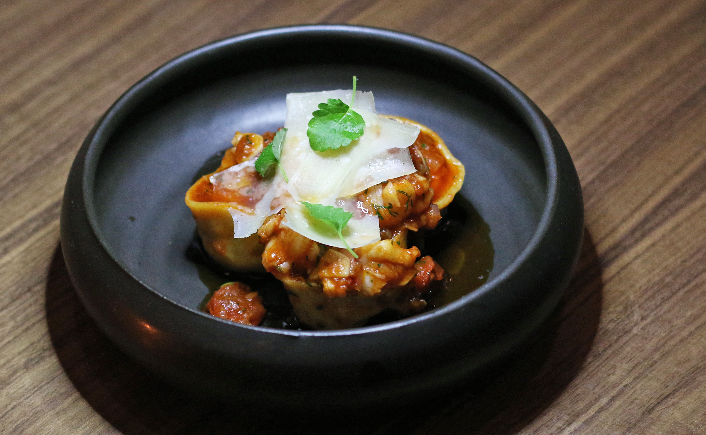 Lobster Tortellini with Lobster Bolognese