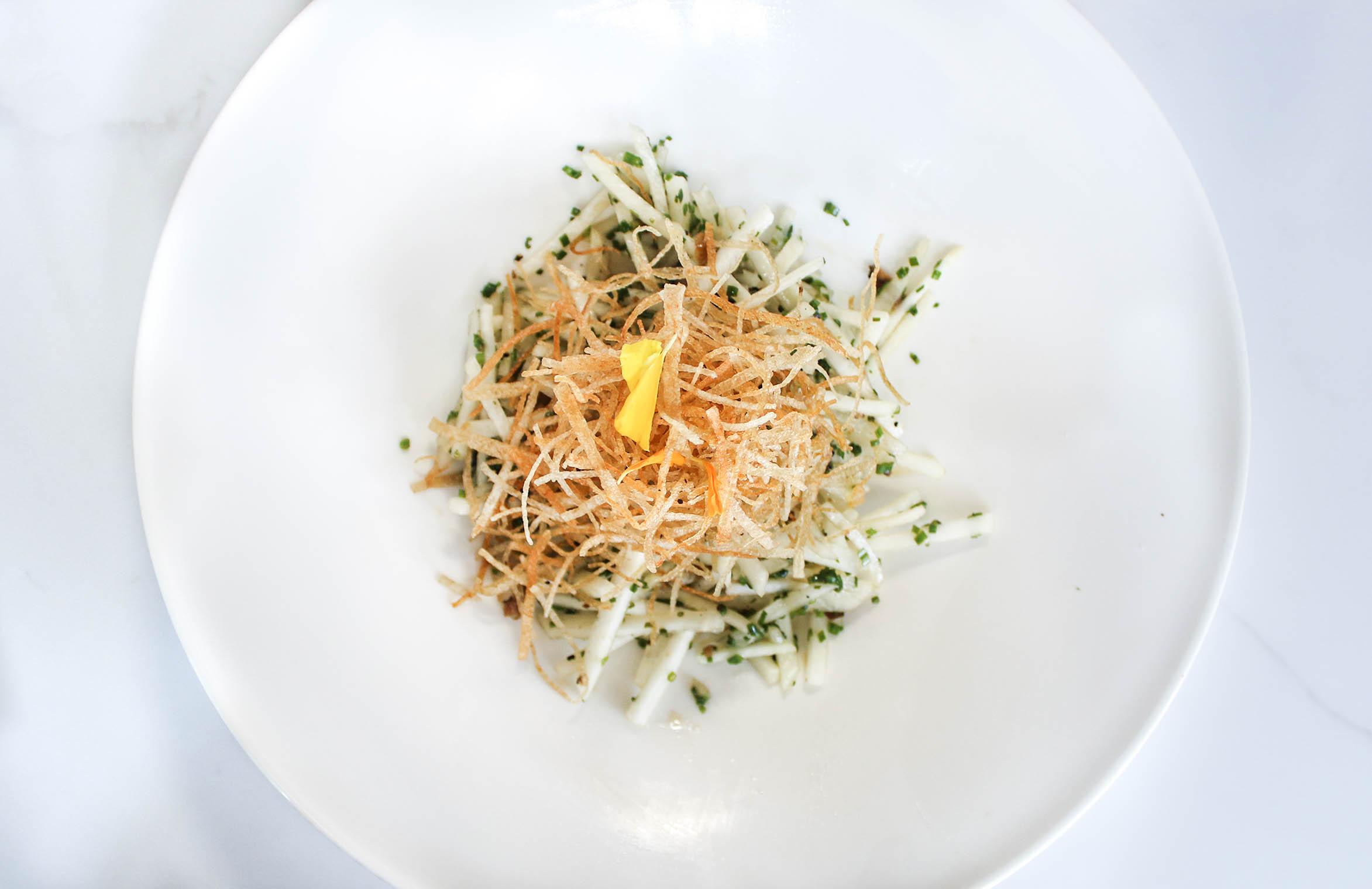 Karate Salad: Kohlrabi, Black Truffle