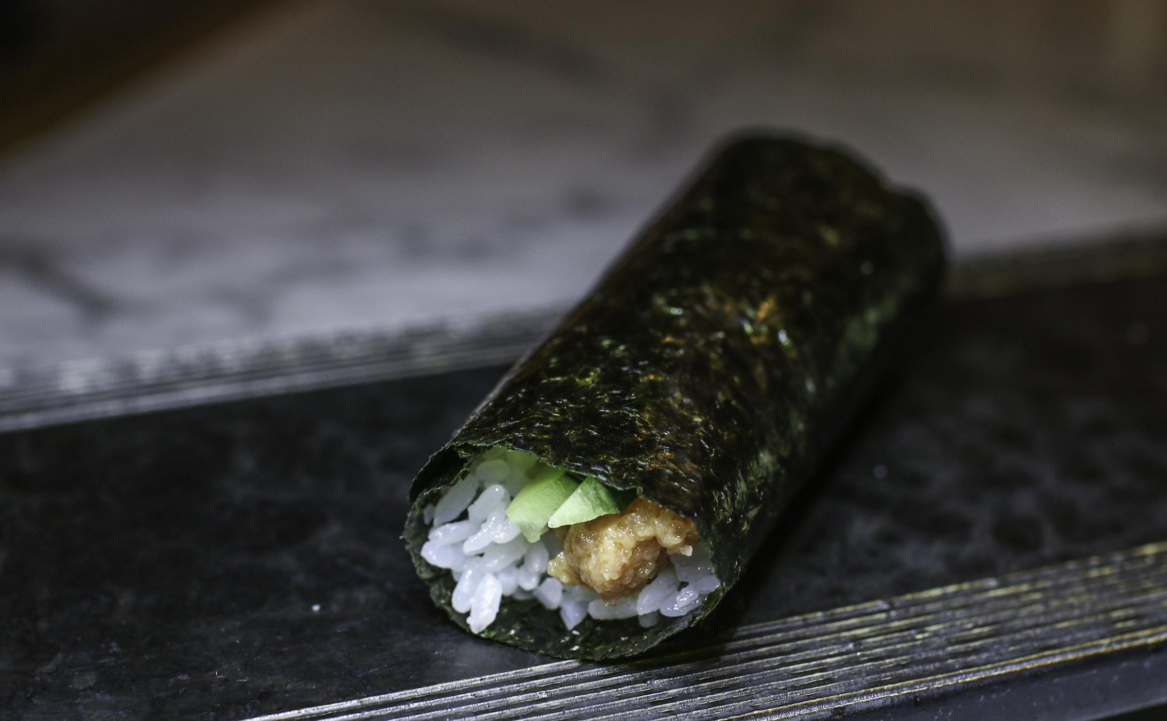 Torotaku Roll: toro, pickled radish, wasabi