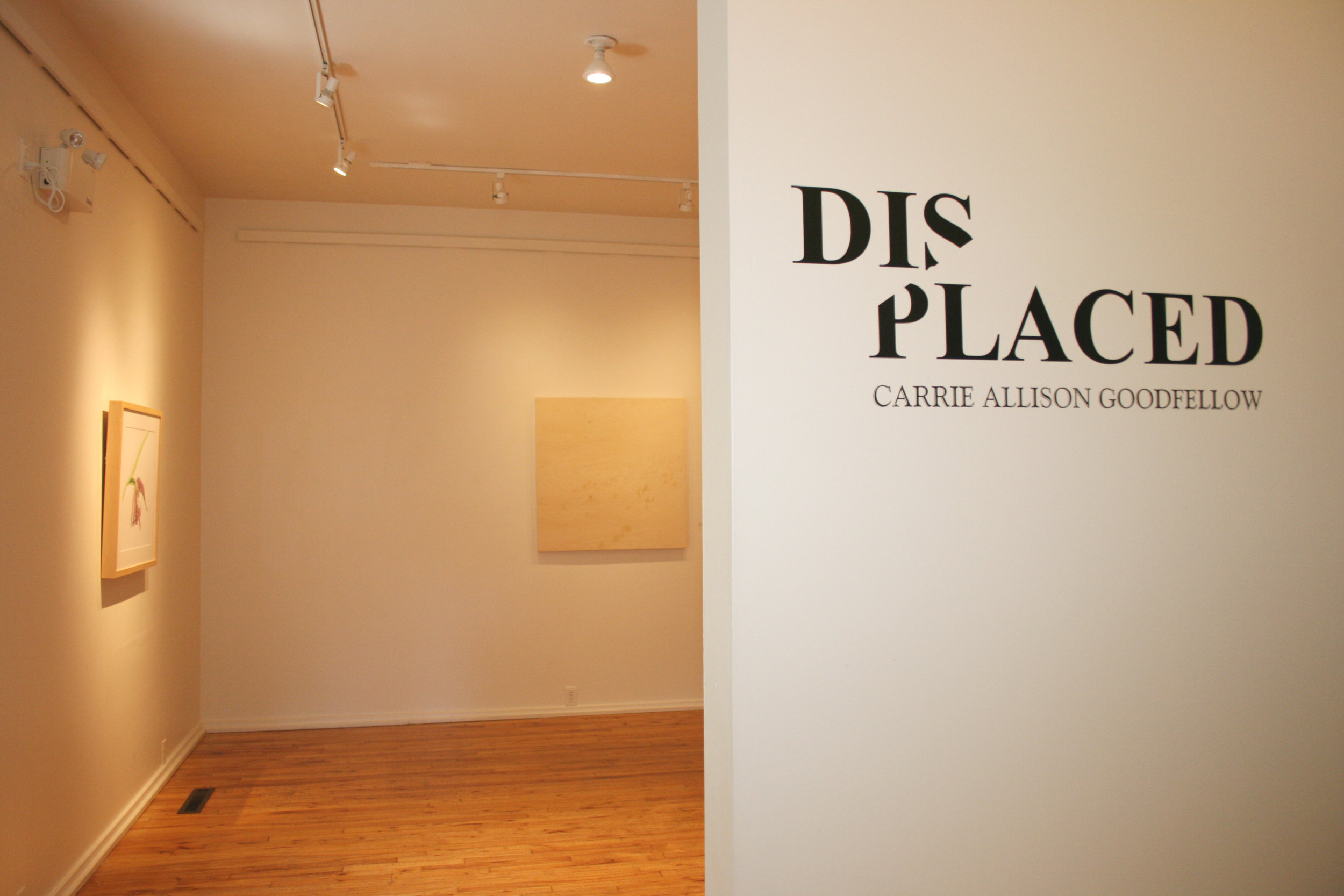 Entrance to Displaced at ARTsPLACE in Annapolis Royal, Nova Scotia. Up until August 27th!