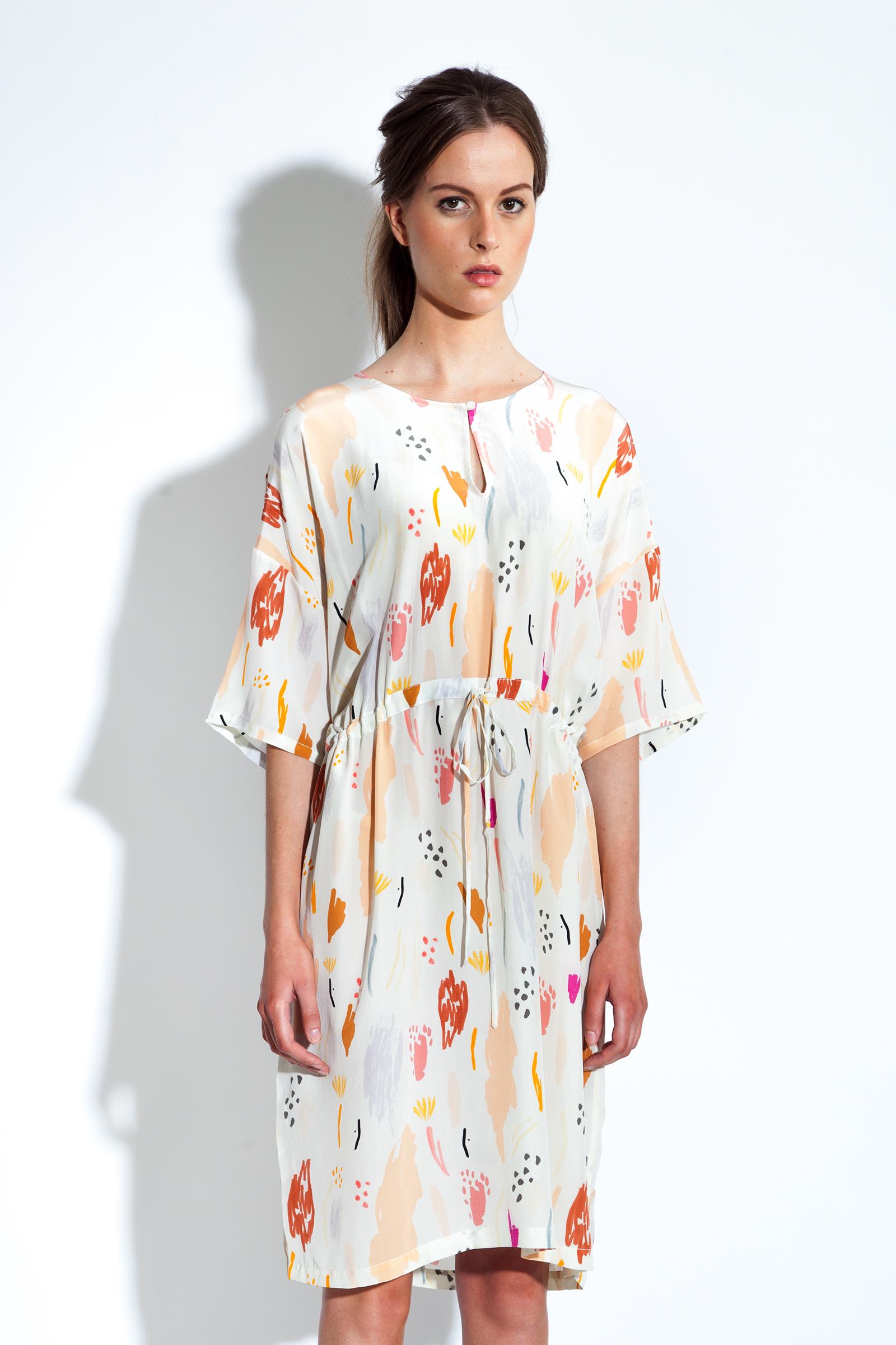 Emmy Peach Print Dress by Maska at Gather&See.Com £196.jpg