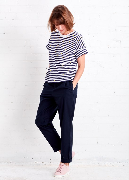 The Ethical Fashionista's Guide to Organic Clothing | Breton Lost At Sea Shirt and Kowtow Rehearsal Pants