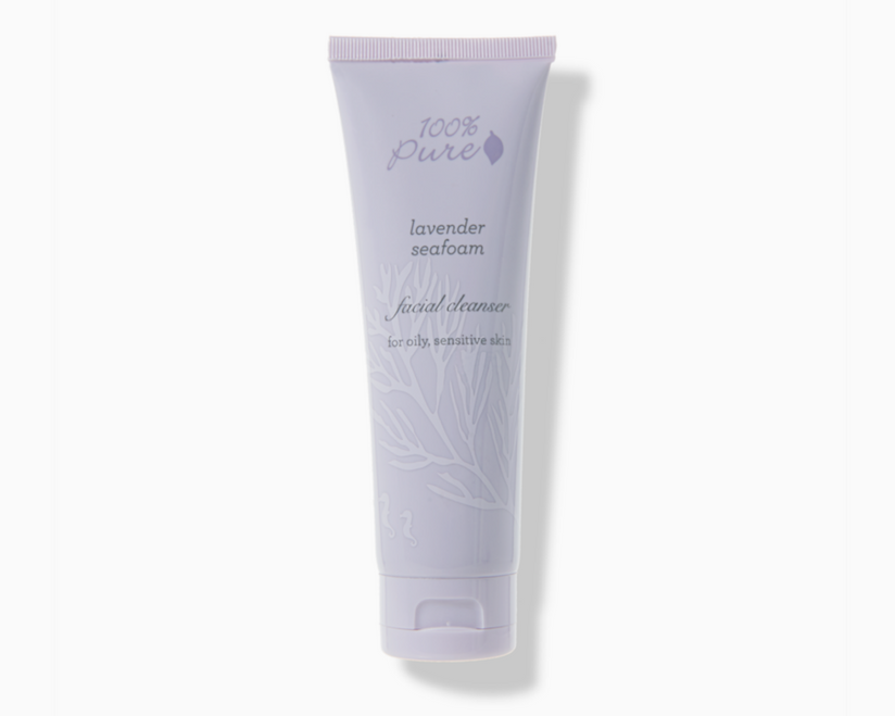 Organic Facial Cleansers - 100% Pure Lavender Seafoam Facial Cleanser