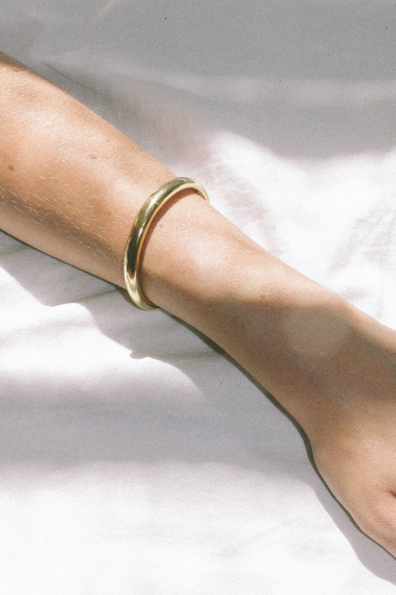 Gold Assembly Bracelet from Wolf Circus // Handcrafted Jewelry Brands For The Minimalist