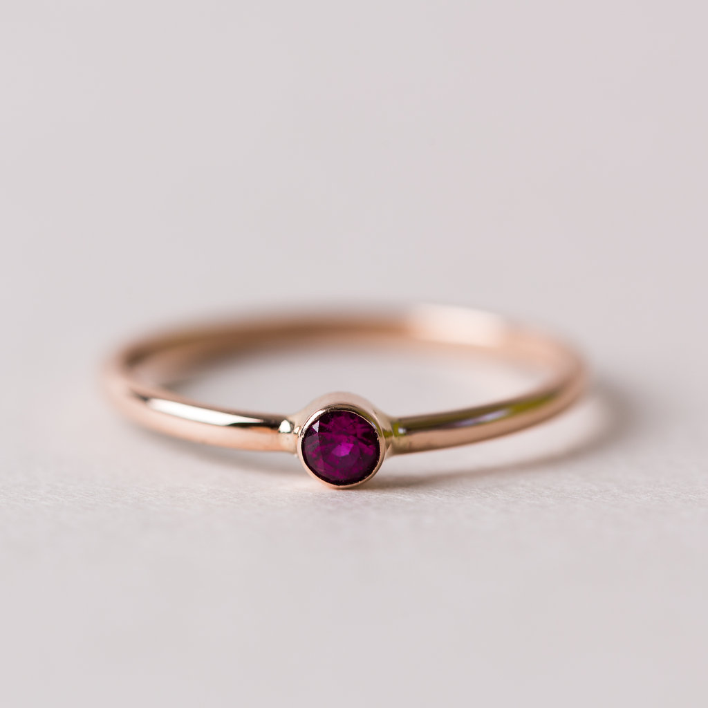 Ruby Solitaire TruRing by Hadley Frances // Handcrafted Jewelry Brands For The Minimalist