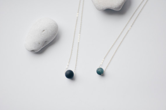 Onyx Matte Black Beaded Necklace by Ginger Stone on Etsy // Handcrafted Jewelry Brands For The Minimalist