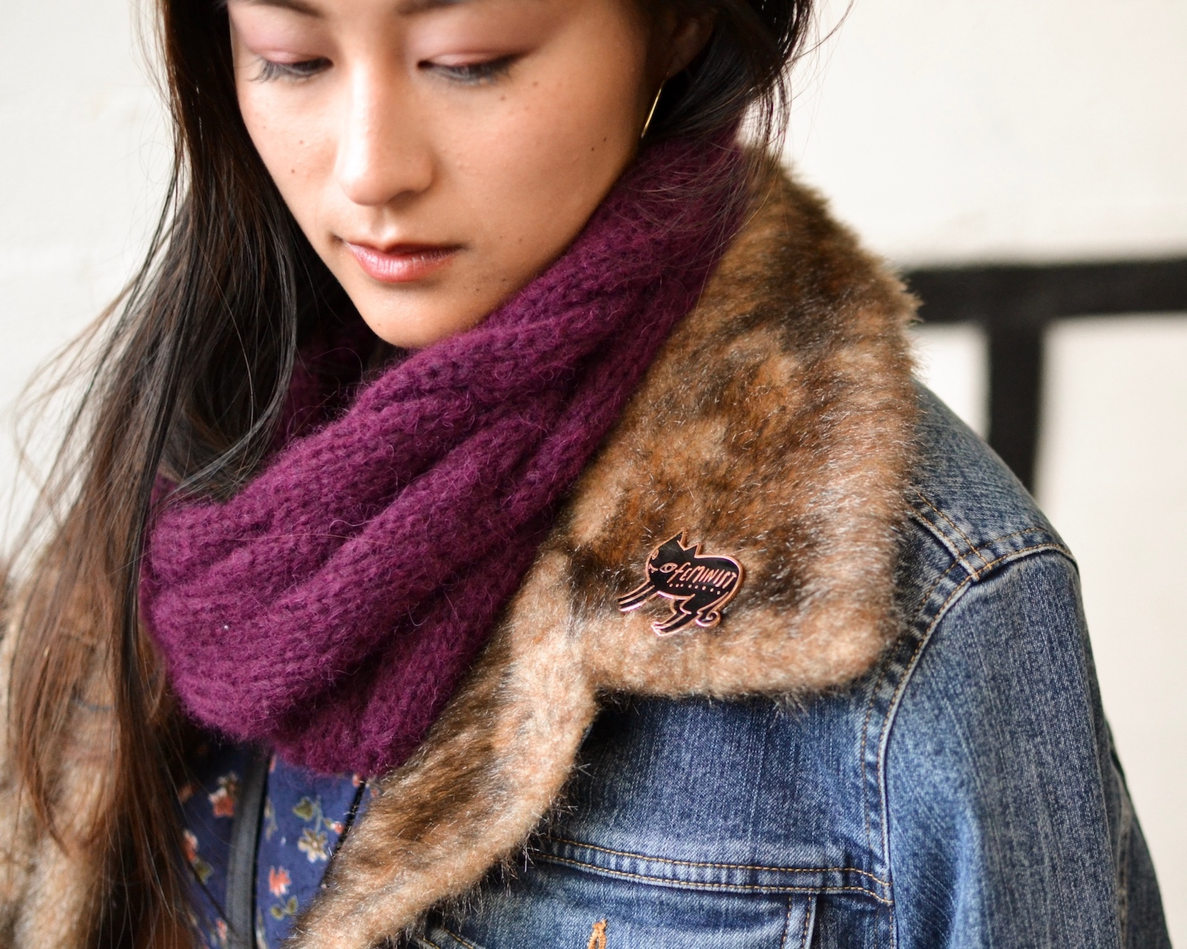Handmade knit scarf // A Week Of Empowered Outfits With Cat Chiang From Restitchstance on The Good Trade