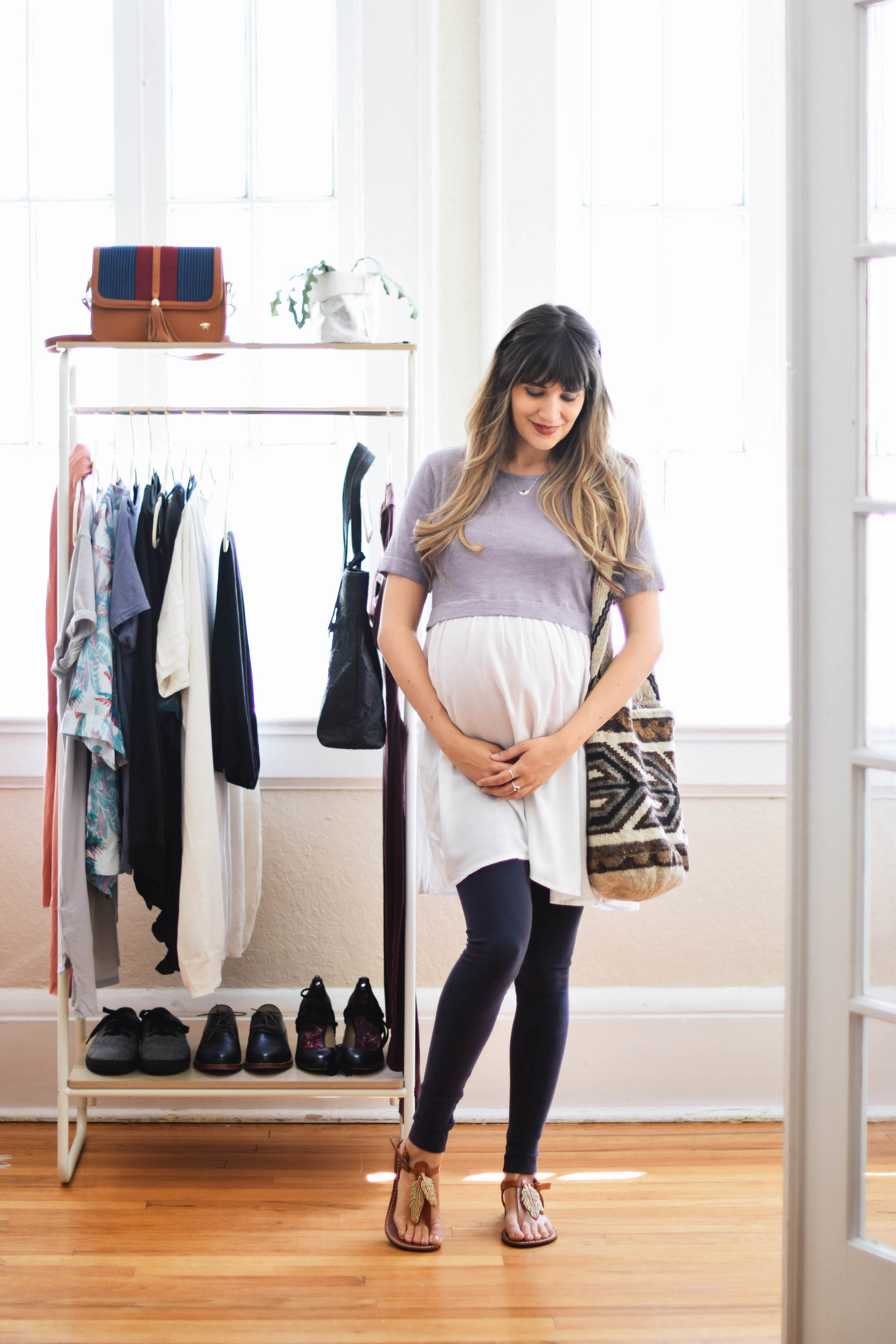 Casual organic cotton pregnancy outfit // A Week Of Sustainable Maternity Outfits With Natalie Kay Smith From Sustainably Chic on The Good Trade
