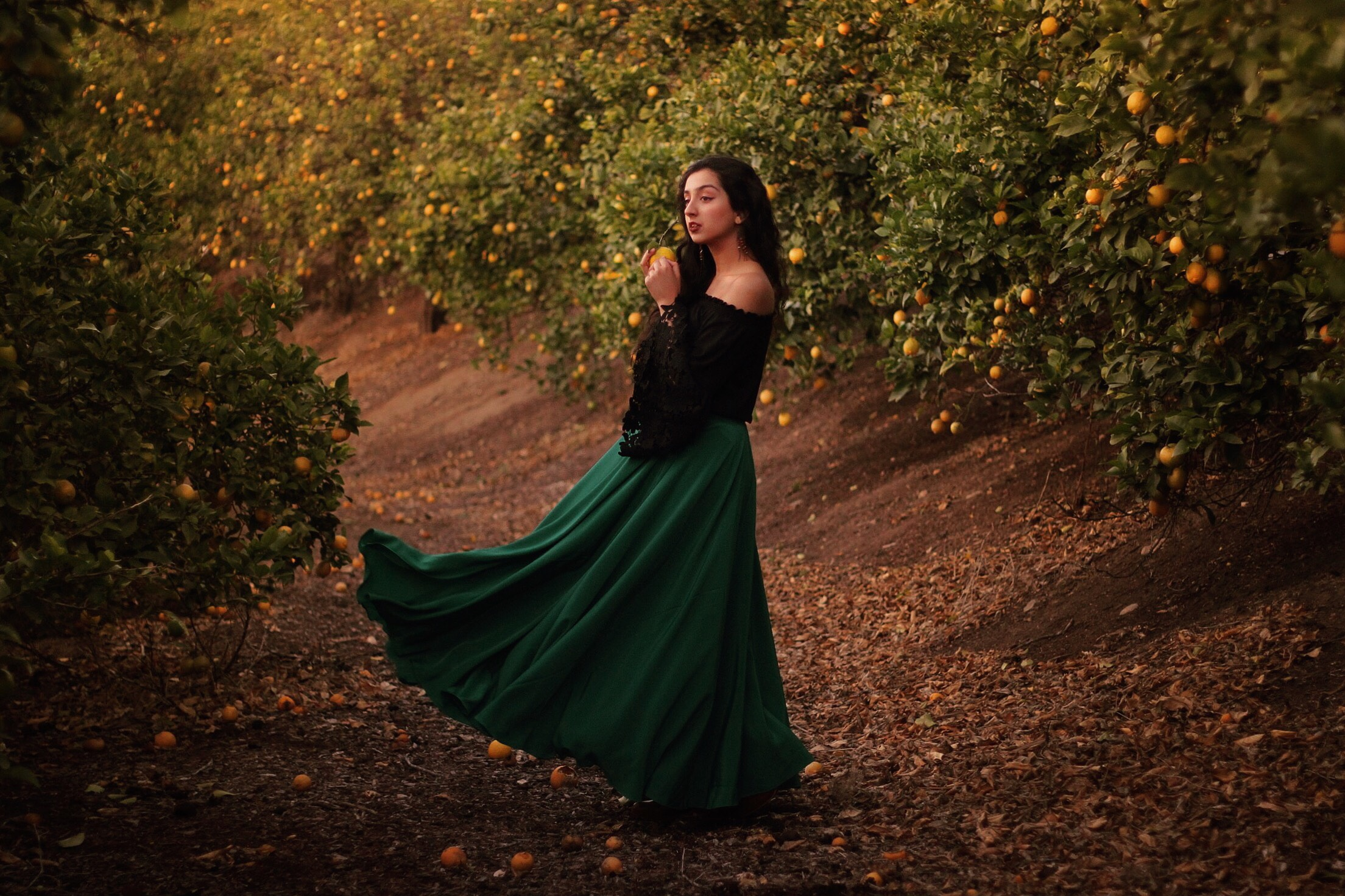 Flowy green maxi skirt // A Week Of Ethical Outfits With Aditi Mayer on The Good Trade