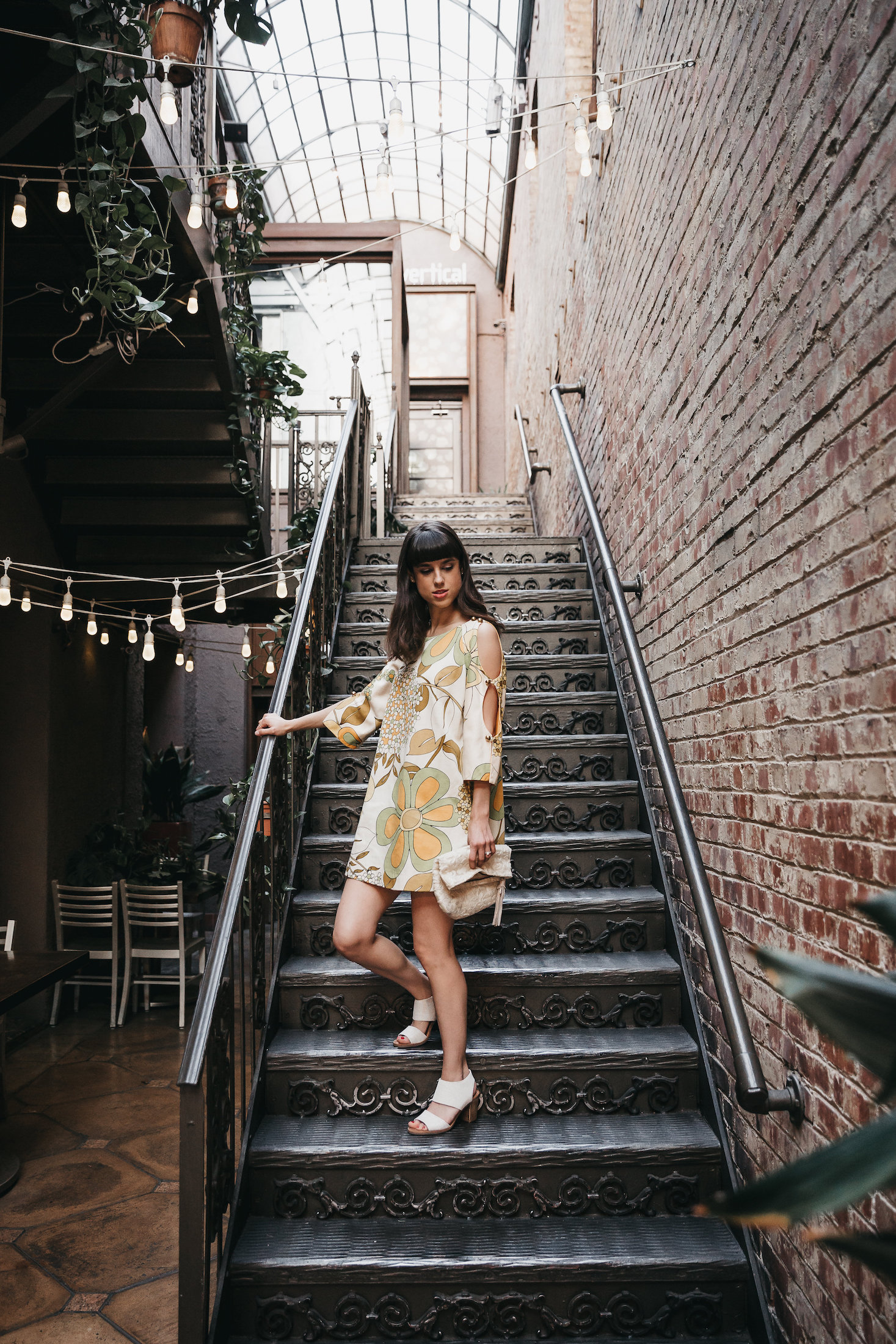 1970s vintage flower dress and TOMS sandals // A Week Of Bright & Bold Ethical Outfits With Michelle Chavez From Michelle For Good on The Good Trade