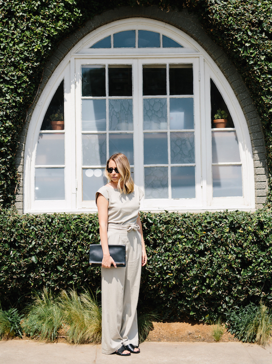 Comfortable jumpsuit for summer // A Week Of Summertime Minimalist Outfits With Ava Darnell, Founder Of Slumlove Sweater Company on The Good Trade