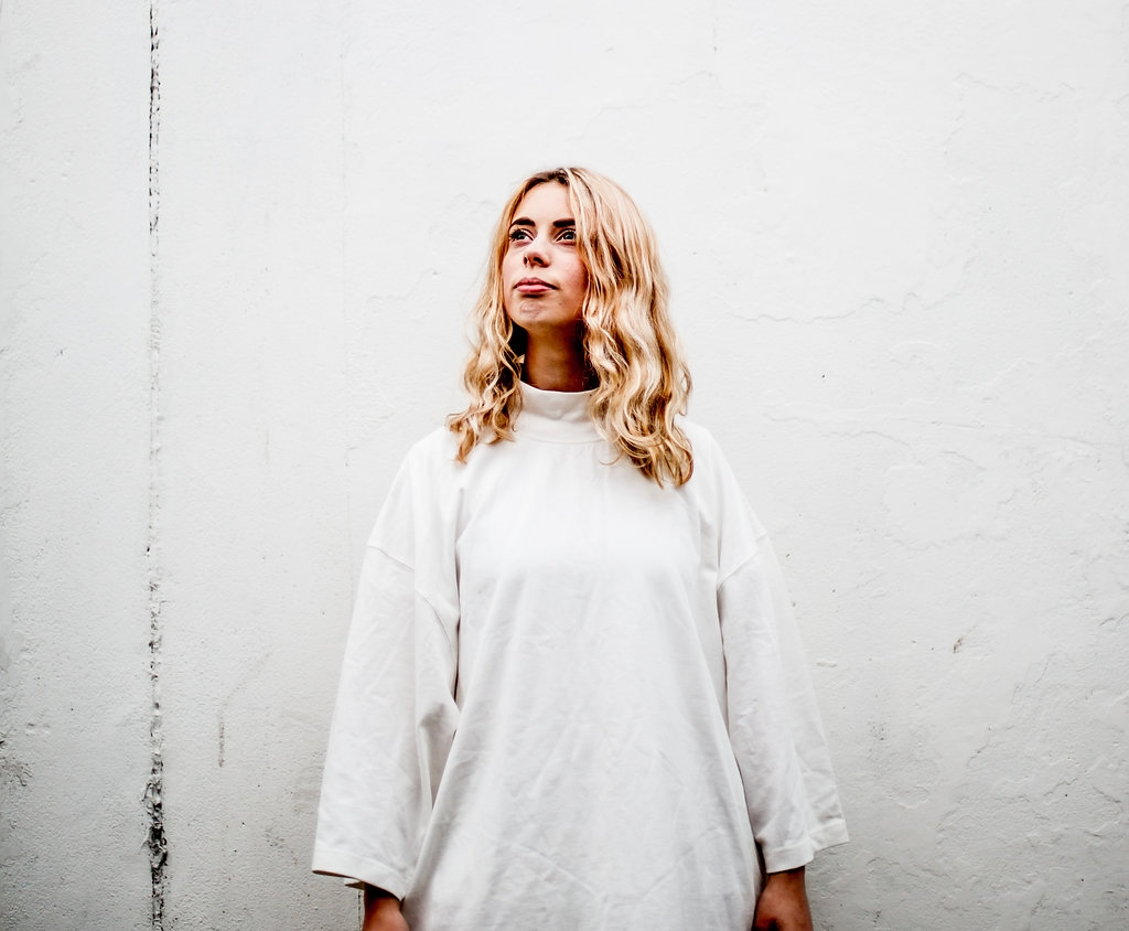 White mockneck dress  // A Week Of Vibrant & Global Outfits With Francesca Willow From Ethical Unicorn on The Good Trade