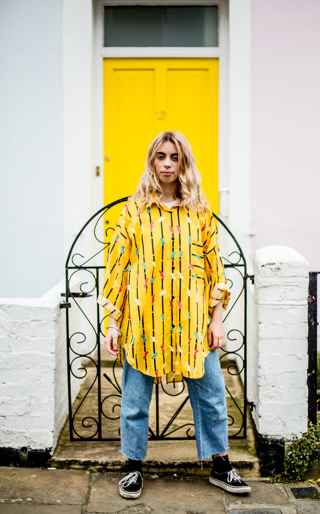Thrifted outfit for a casual Saturday  // A Week Of Vibrant & Global Outfits With Francesca Willow From Ethical Unicorn on The Good Trade