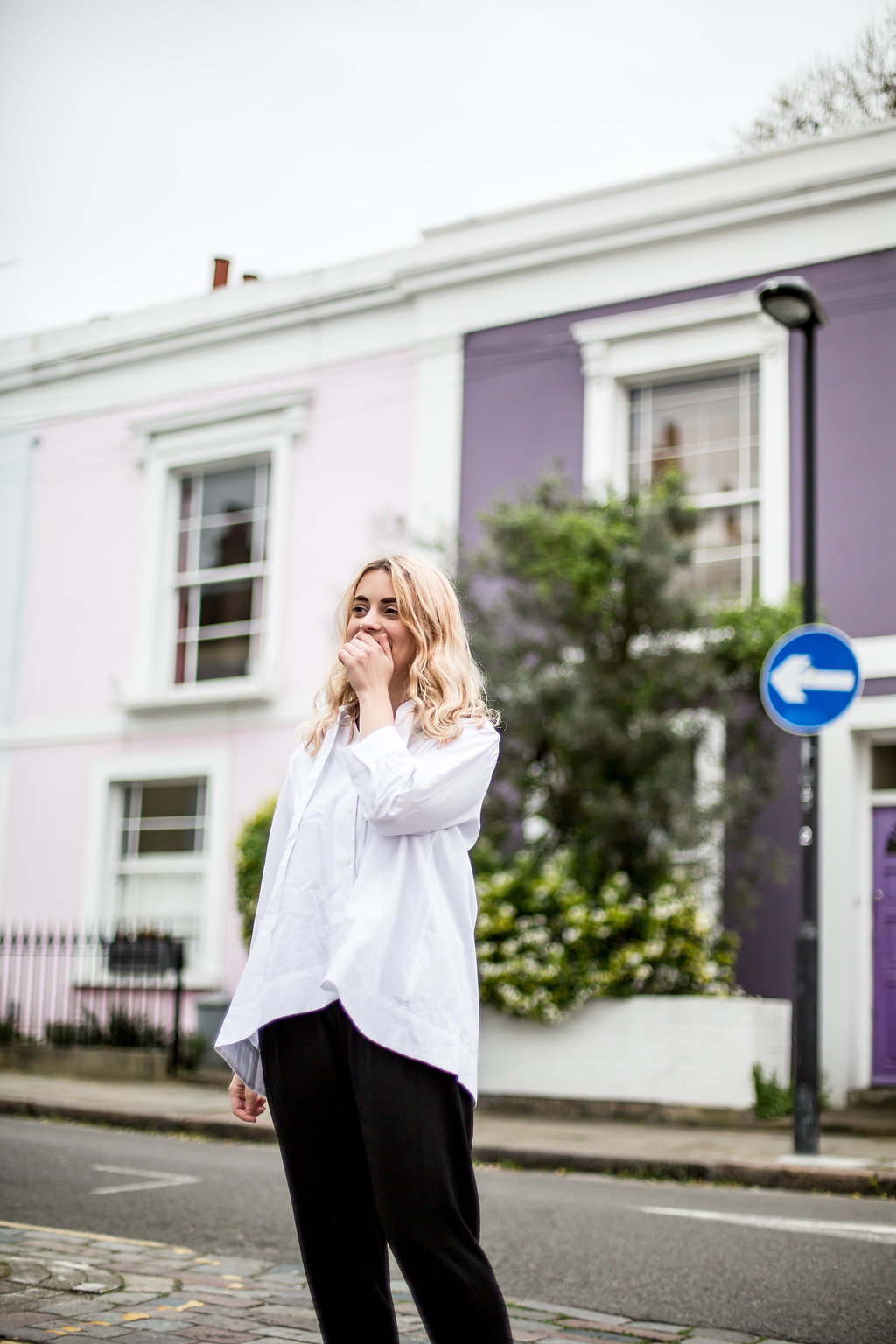 Organic cotton white hi-lo blouse // A Week Of Vibrant & Global Outfits With Francesca Willow From Ethical Unicorn on The Good Trade