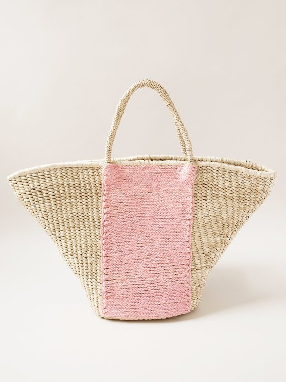 Pink Panel Woven Bag   Indego Africa // Refugee-Made Goods Supporting Displaced Artisans Around The World on The Good Trade