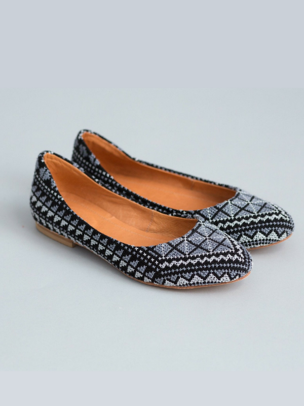Gray Tatreez Flats   Darzah // Refugee-Made Goods Supporting Displaced Artisans Around The World on The Good Trade